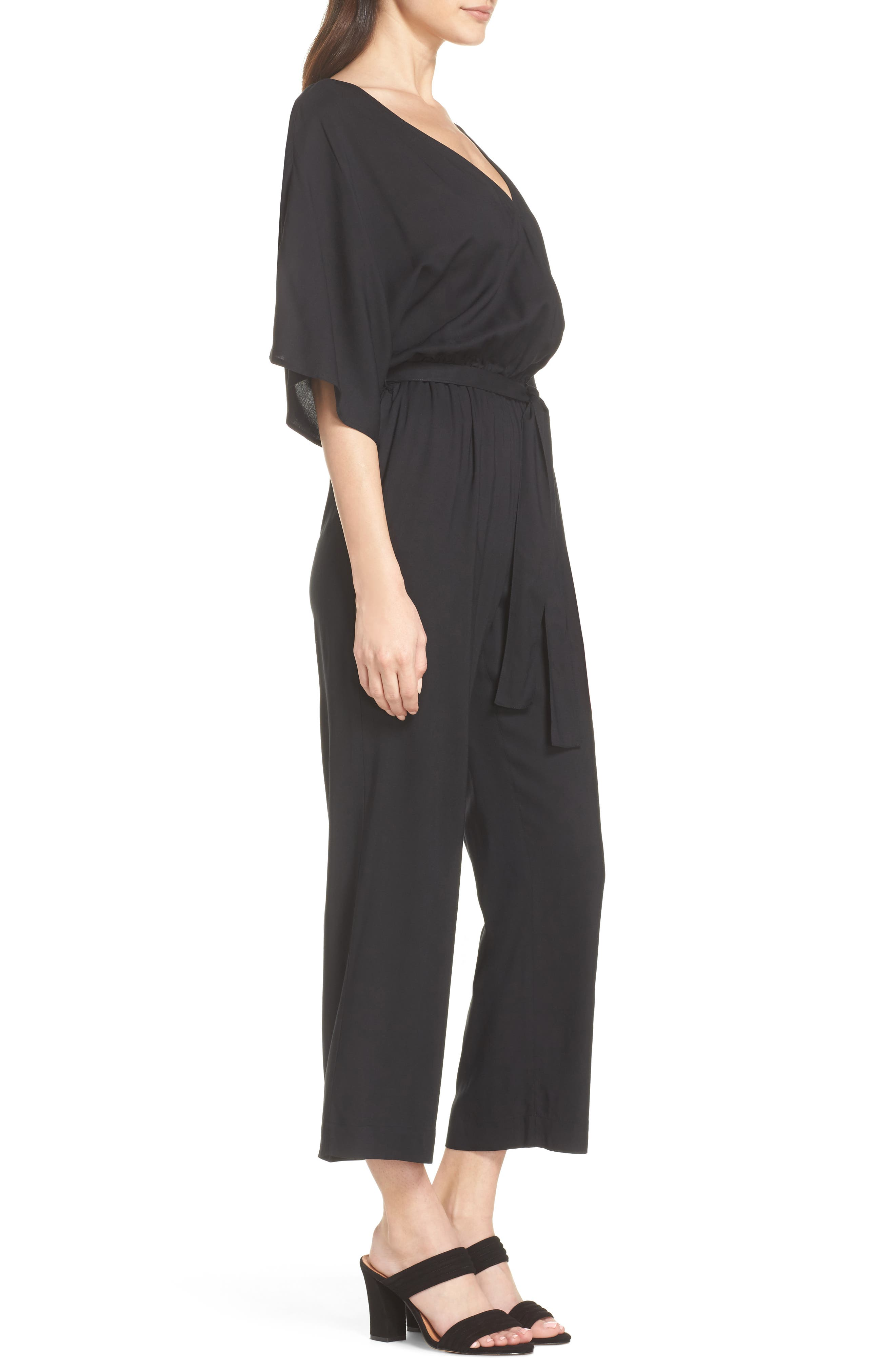 Vanette Jumpsuit,                             Alternate thumbnail 3, color,                             Black