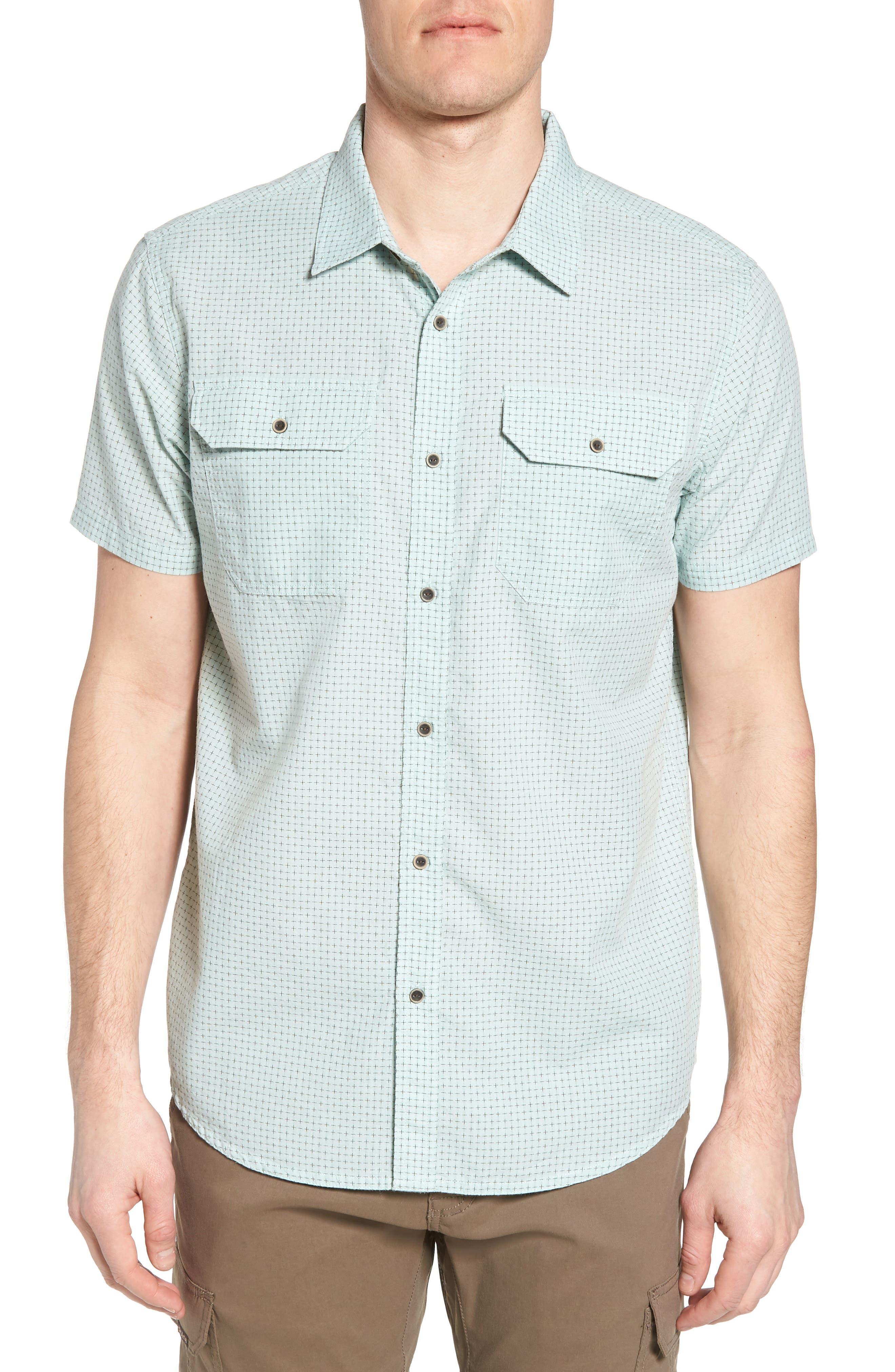 Main Image - prAna Blakely Slim Fit Short Sleeve Sport Shirt