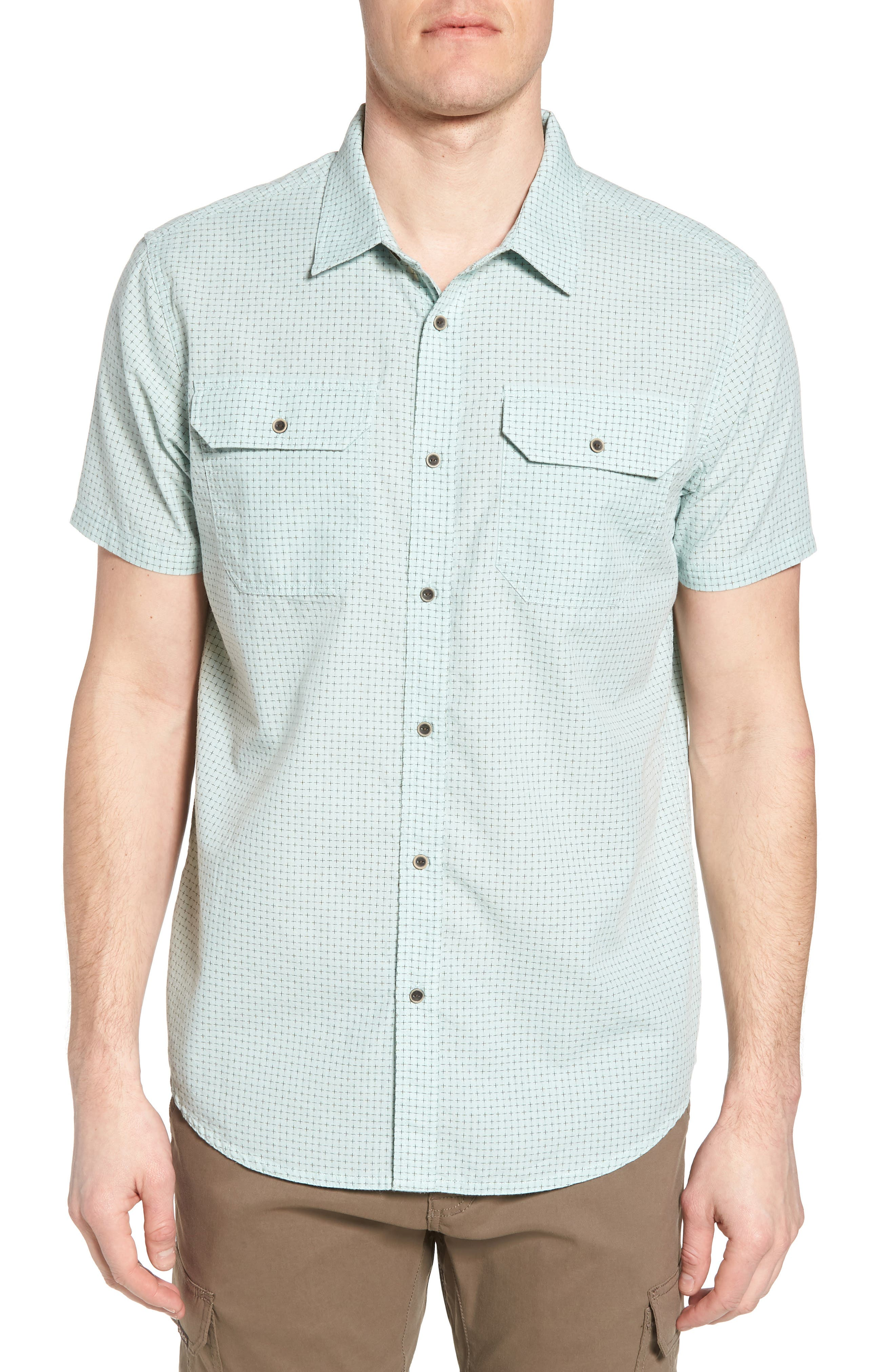 PrAna Blakely Slim Fit Short Sleeve Sport Shirt