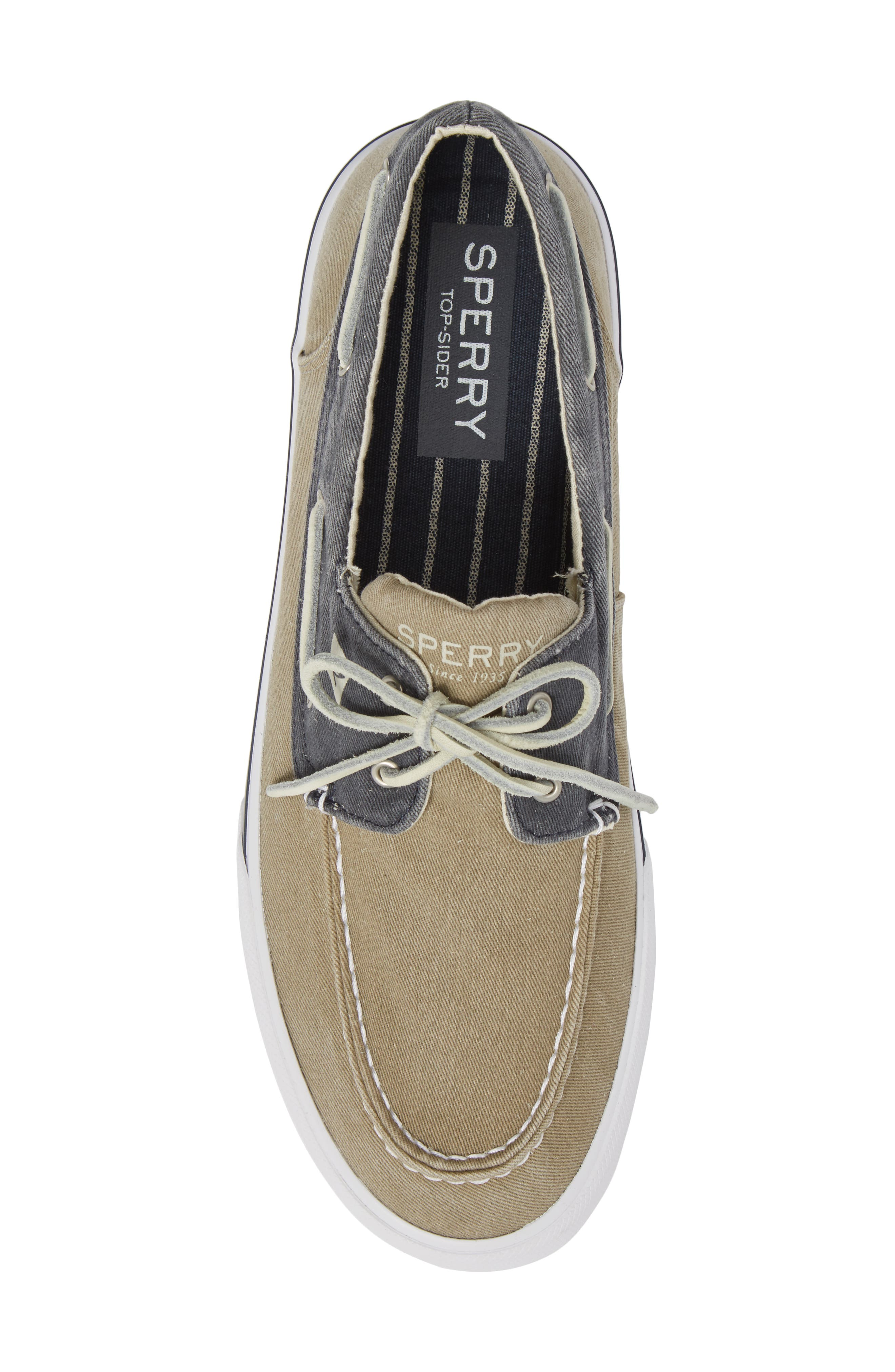 Striper II Boat Shoe,                             Alternate thumbnail 5, color,                             Taupe/ Navy