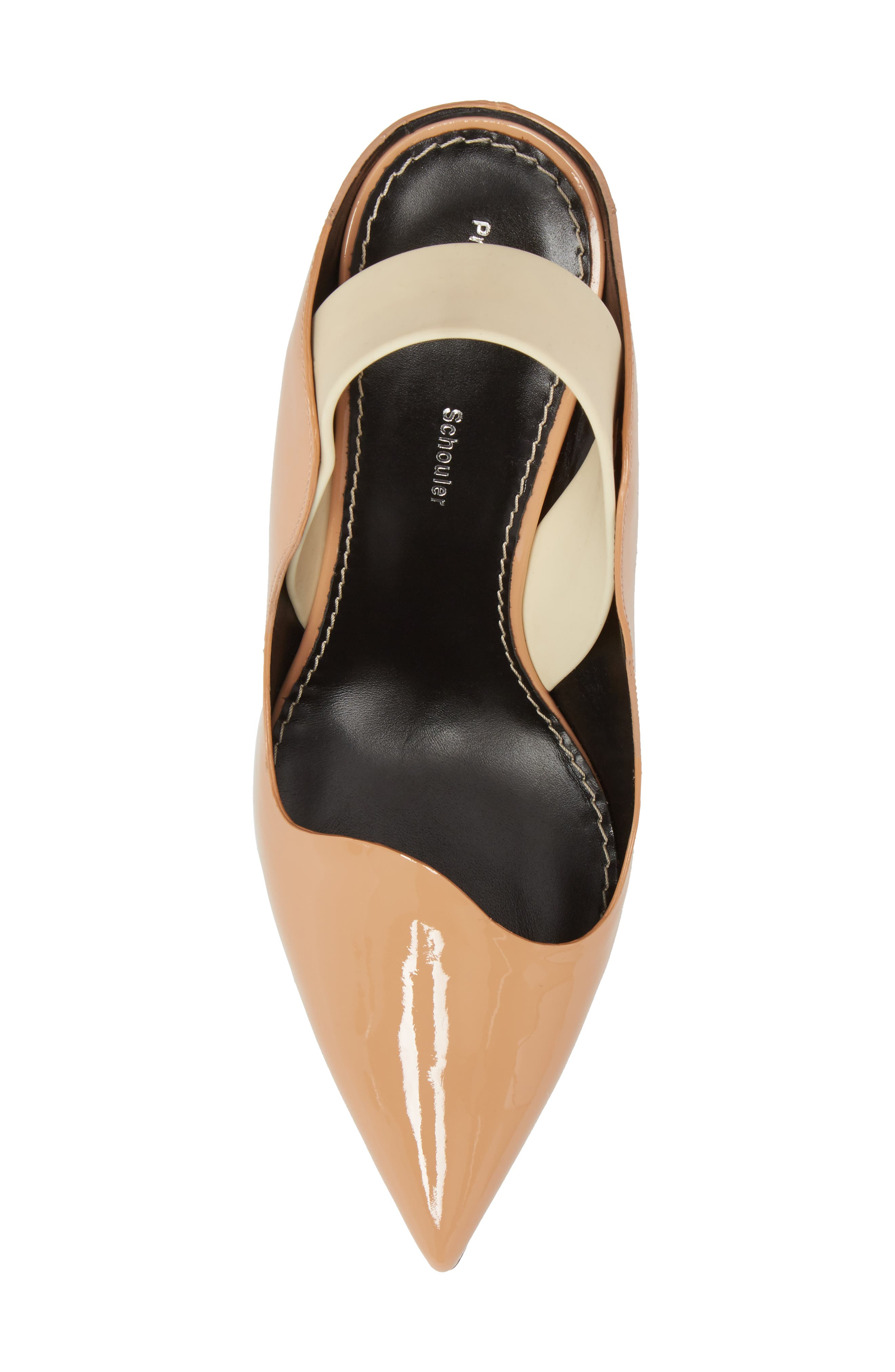 Wave Slingback Pump,                             Alternate thumbnail 5, color,                             Nude