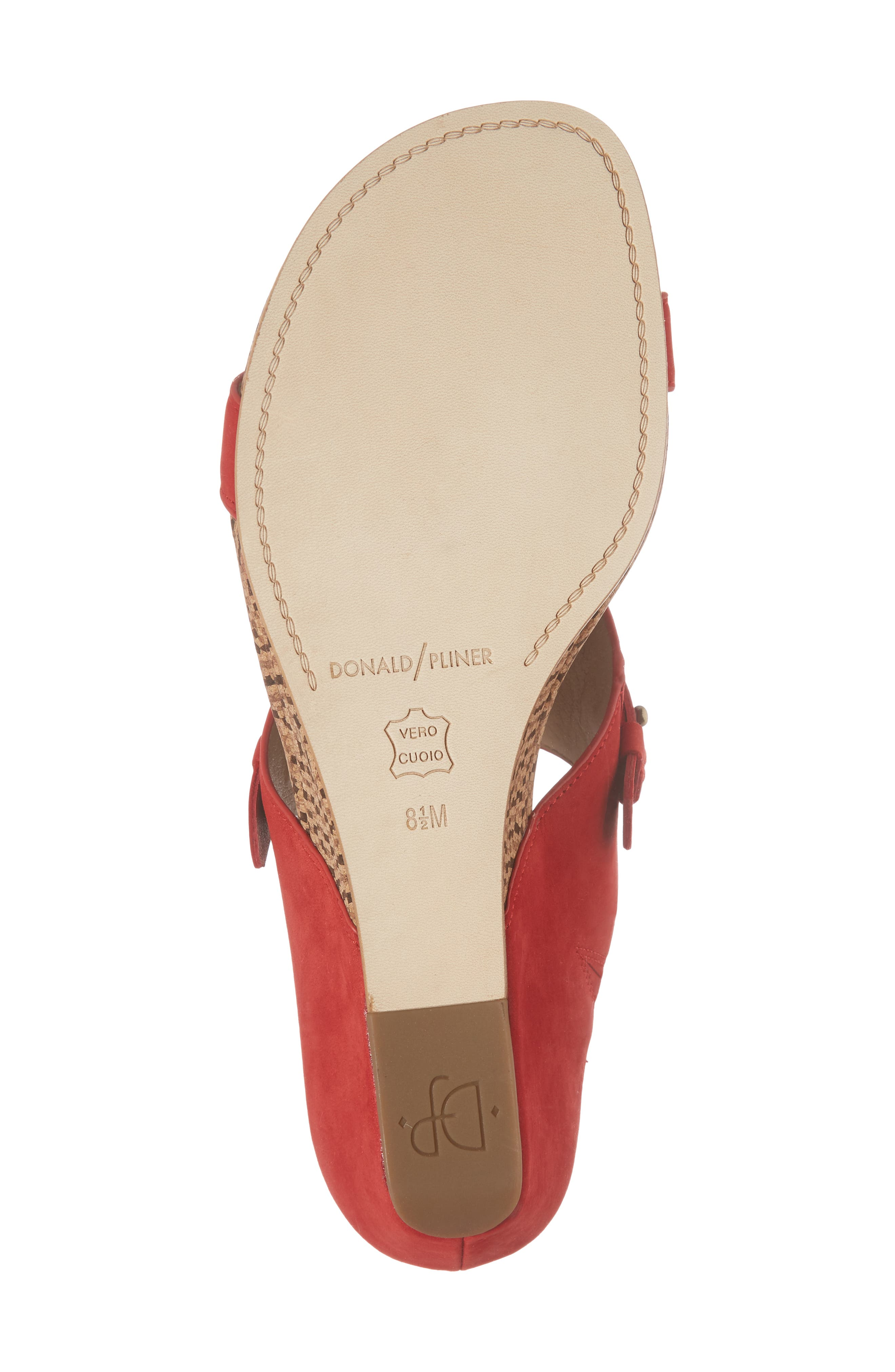Dayna Wedge Sandal,                             Alternate thumbnail 6, color,                             Poppy Leather