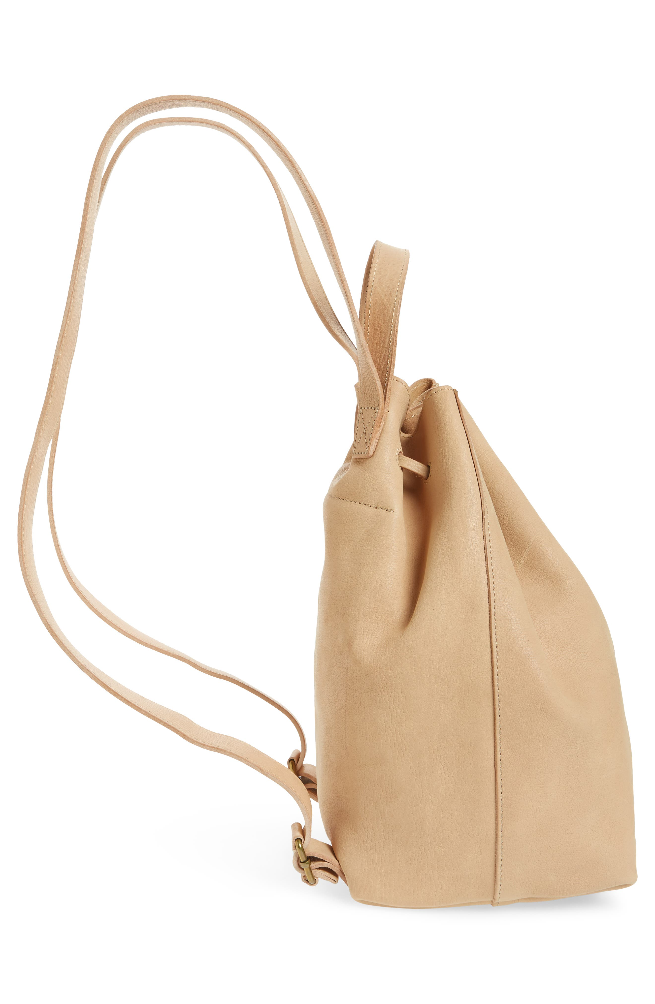 Somerset Leather Backpack,                             Alternate thumbnail 5, color,                             Linen