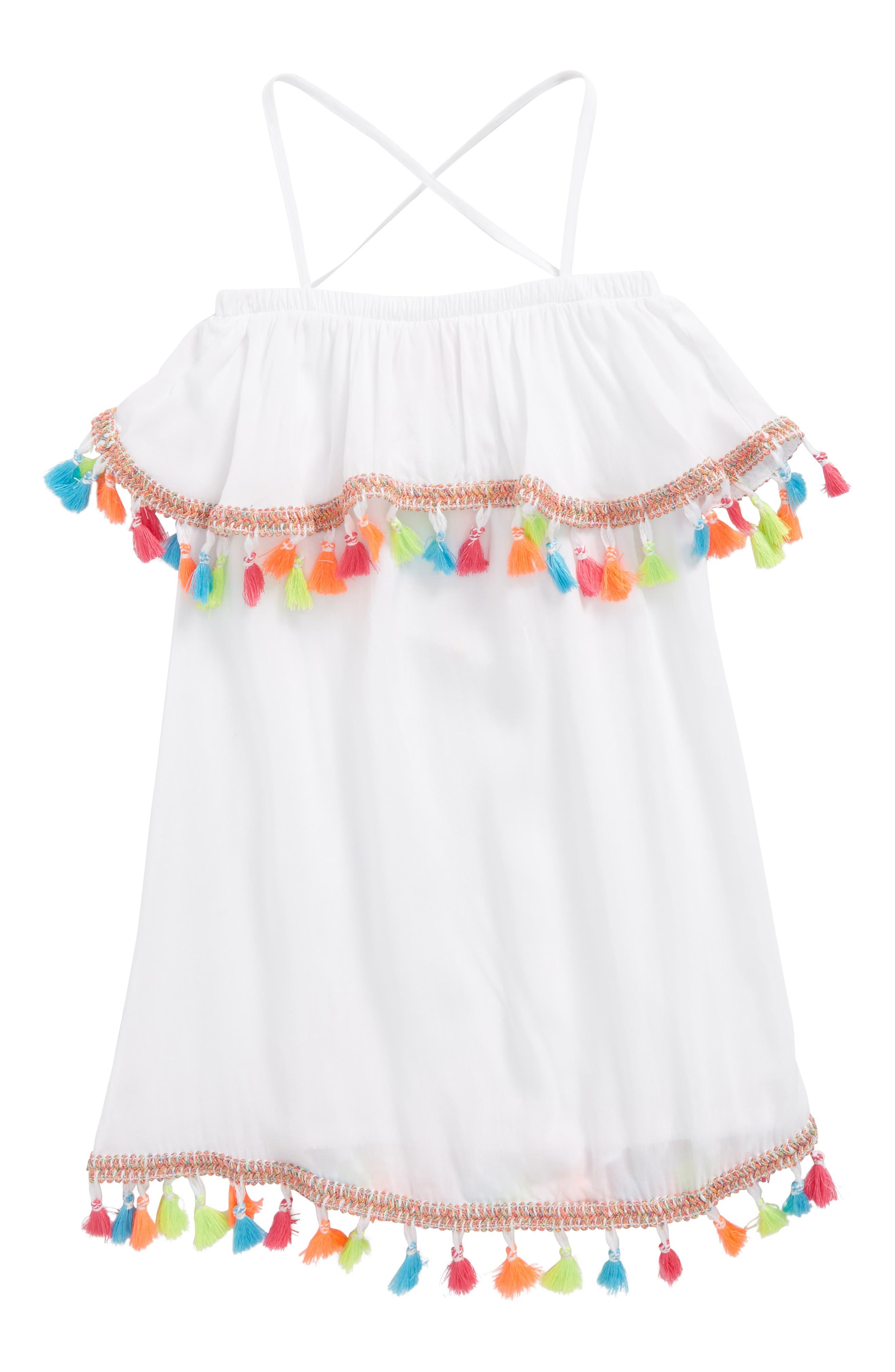 PilyQ Tassel Cover Up Dress (Toddler Girls, Little girls and Big Girls)