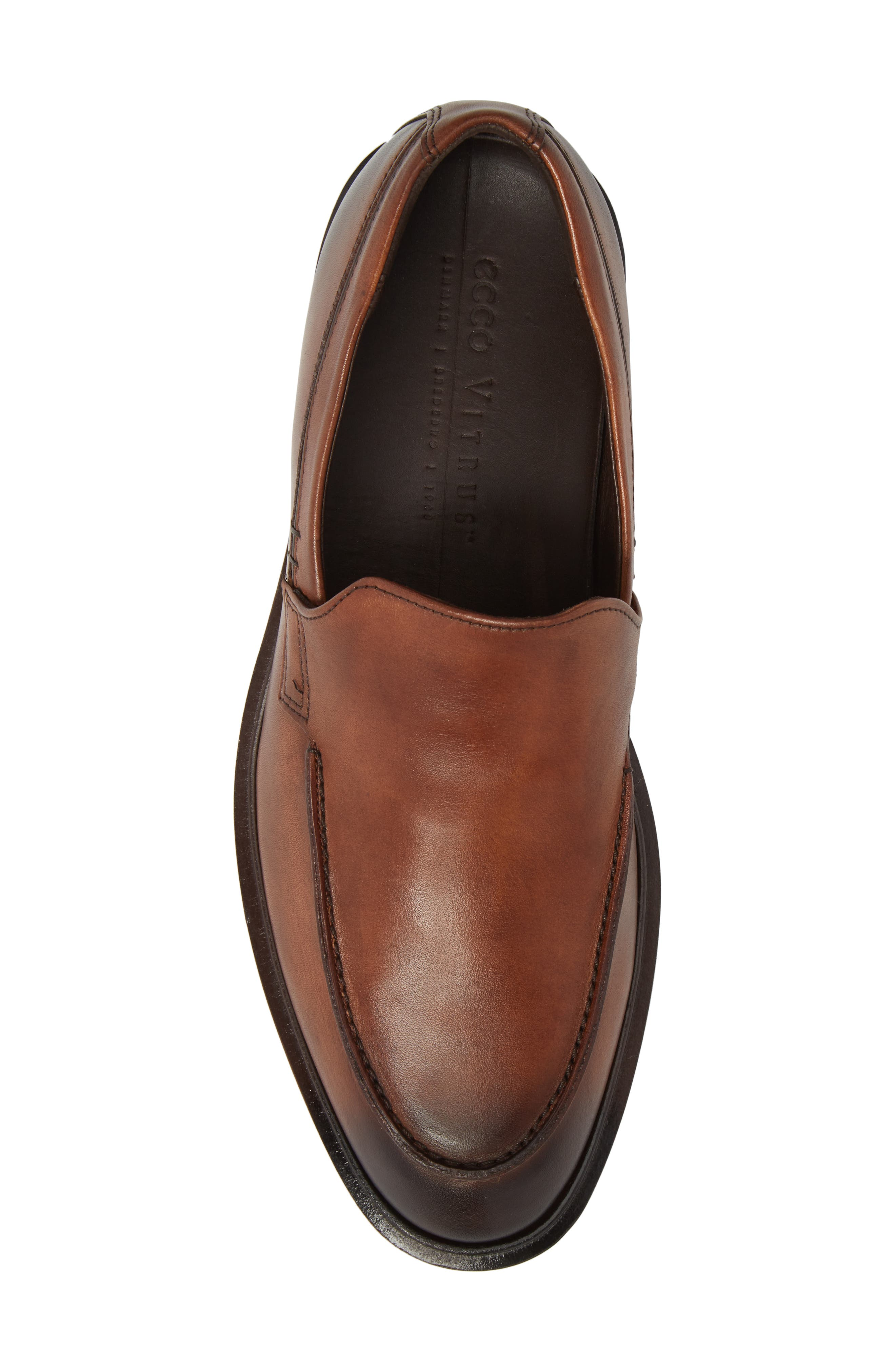 Alternate Image 5  - ECCO Vitrus II Apron Toe Loafer (Men)