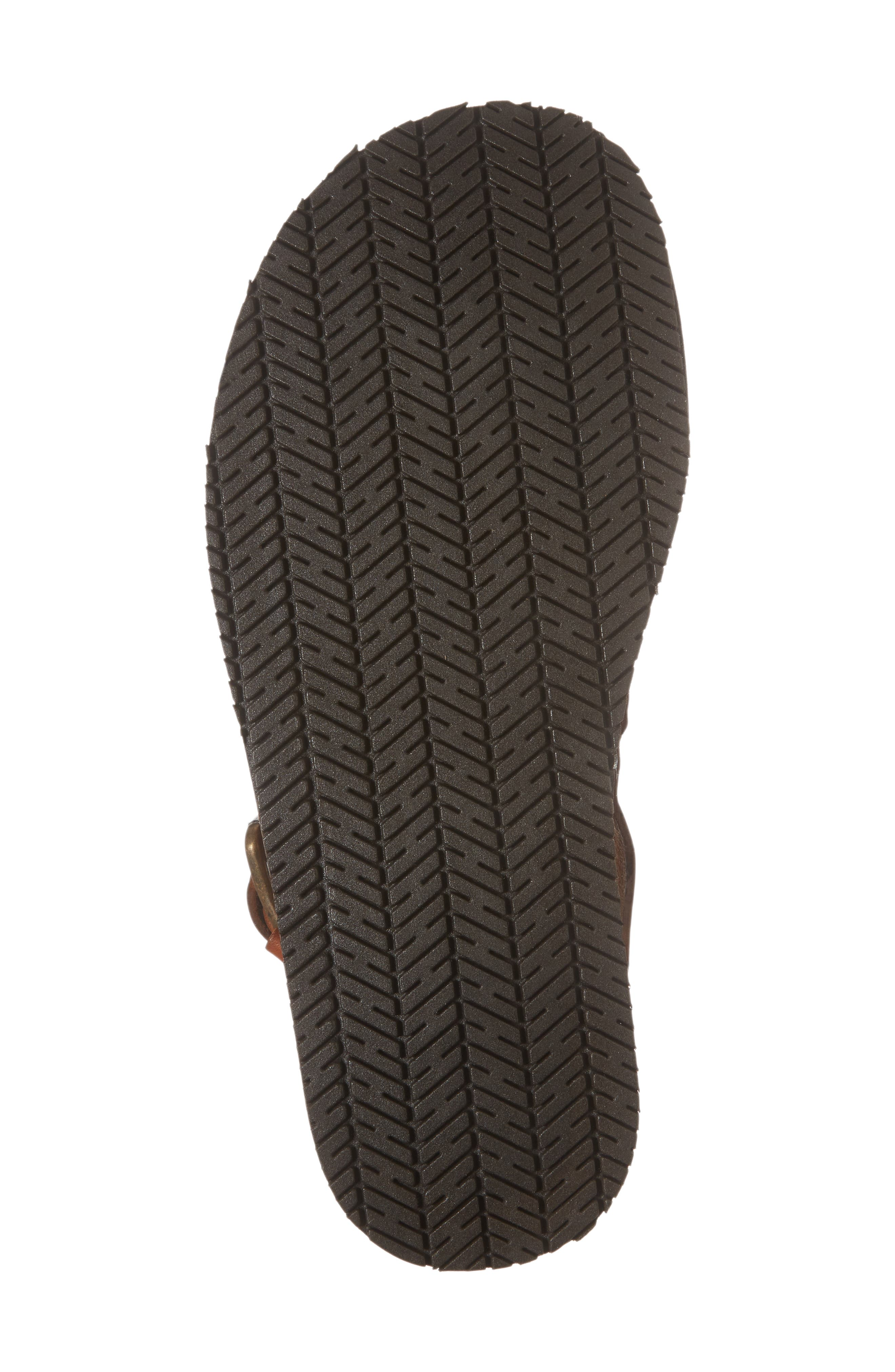 'Reel-Ist' Sandal,                             Alternate thumbnail 6, color,                             Cognac Leather