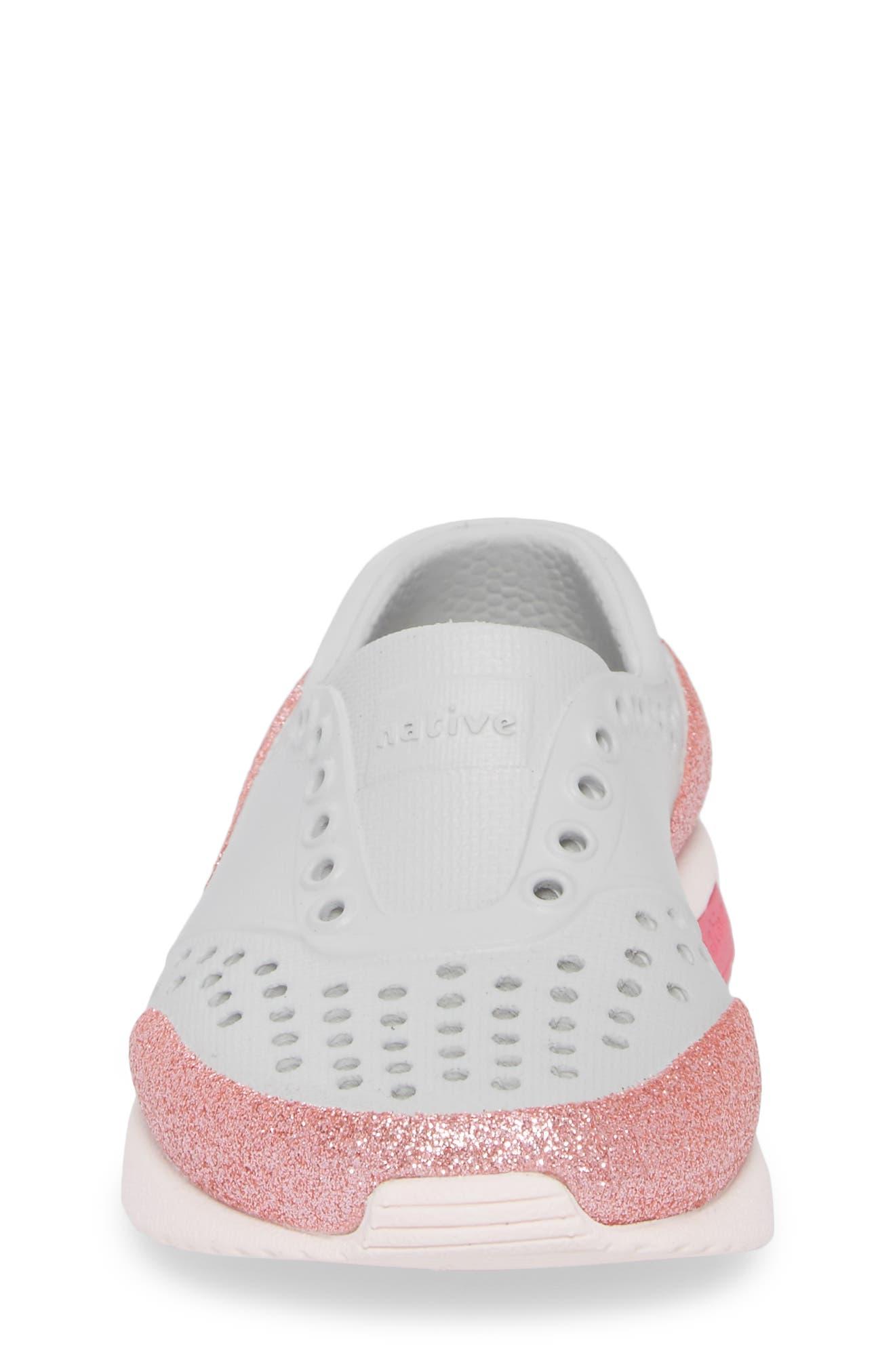 Lennox Glitter Slip-On Sneaker,                             Alternate thumbnail 4, color,                             Mist Grey/ Milk Pink/ Glitter