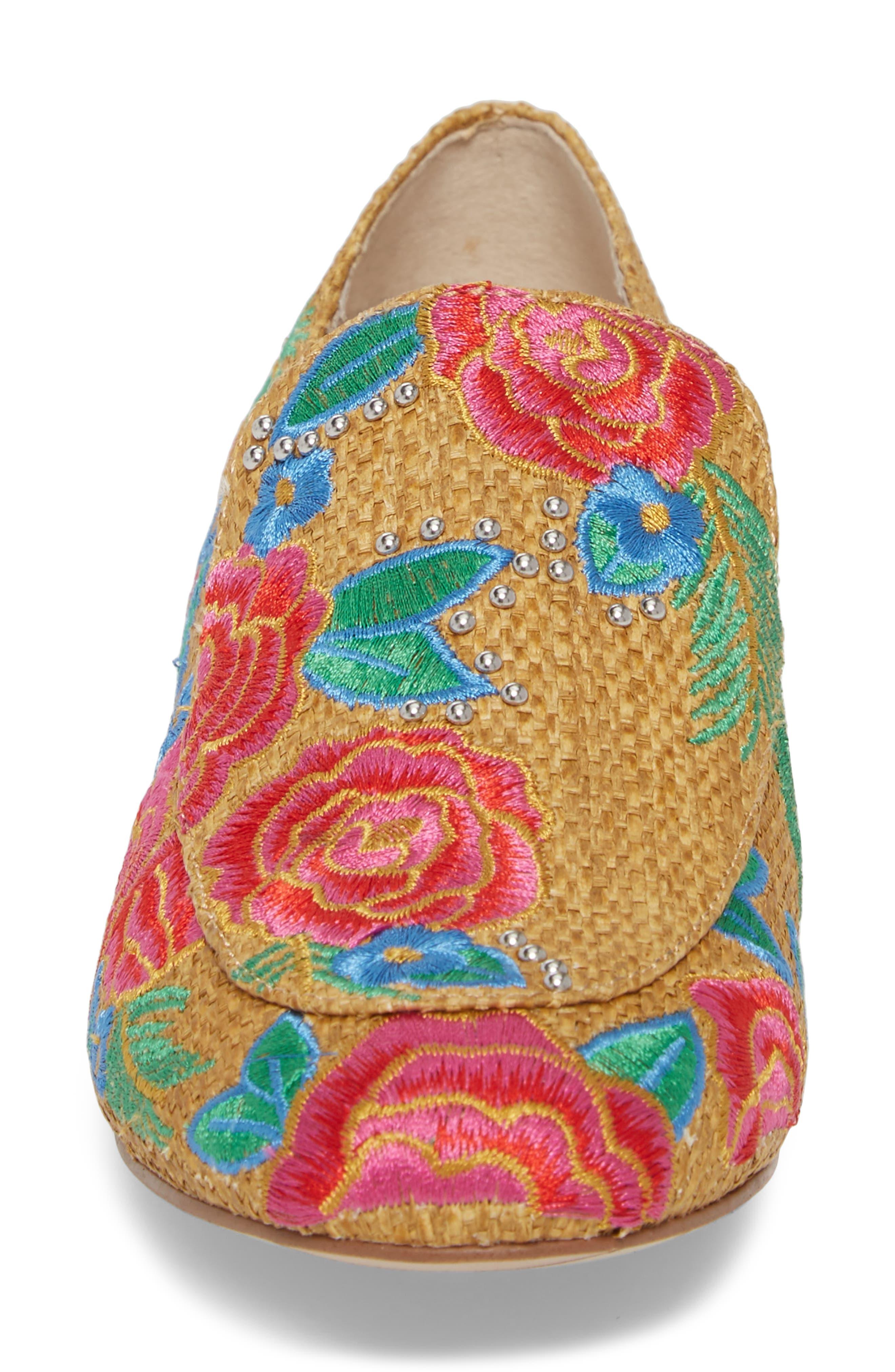 Westley Slip-On,                             Alternate thumbnail 4, color,                             Natural Raffia Fabric