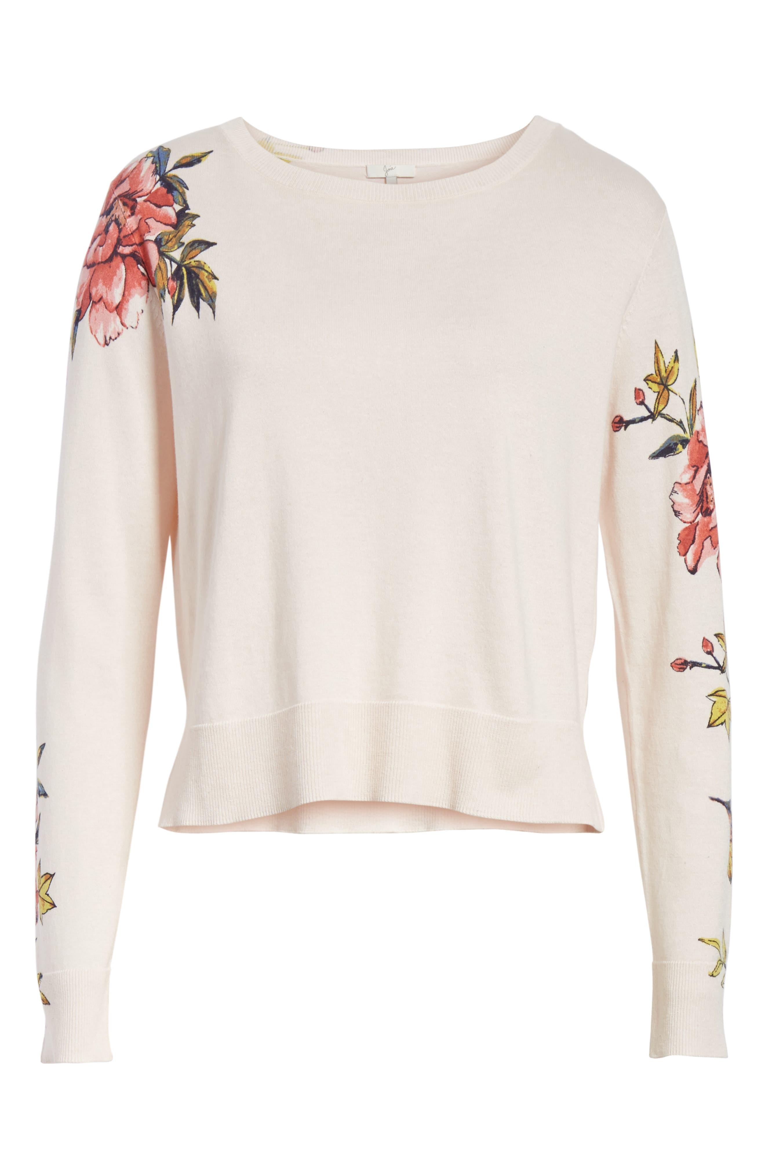 Paari Silk & Cashmere Sweater,                             Alternate thumbnail 6, color,                             Rosewater