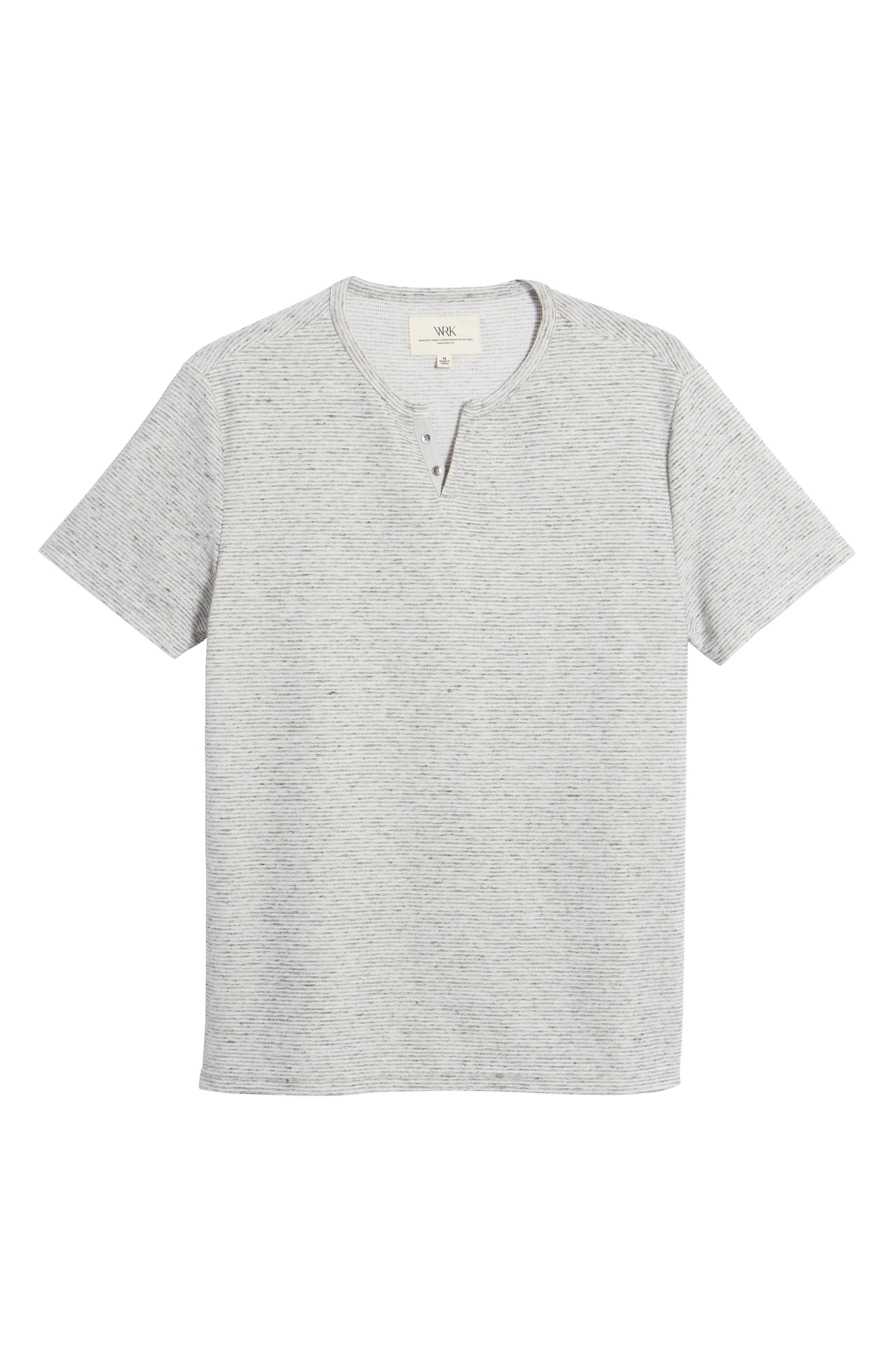 Metro Stripe Henley Shirt,                             Alternate thumbnail 6, color,                             Light Grey
