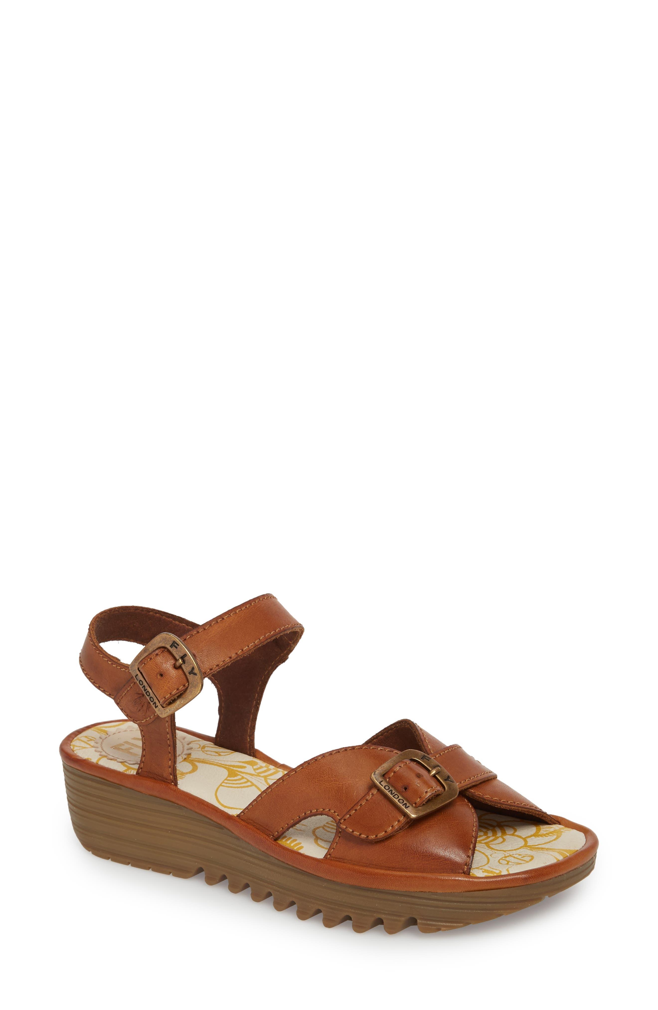 Egal Sandal,                         Main,                         color, Tan Colmar Leather