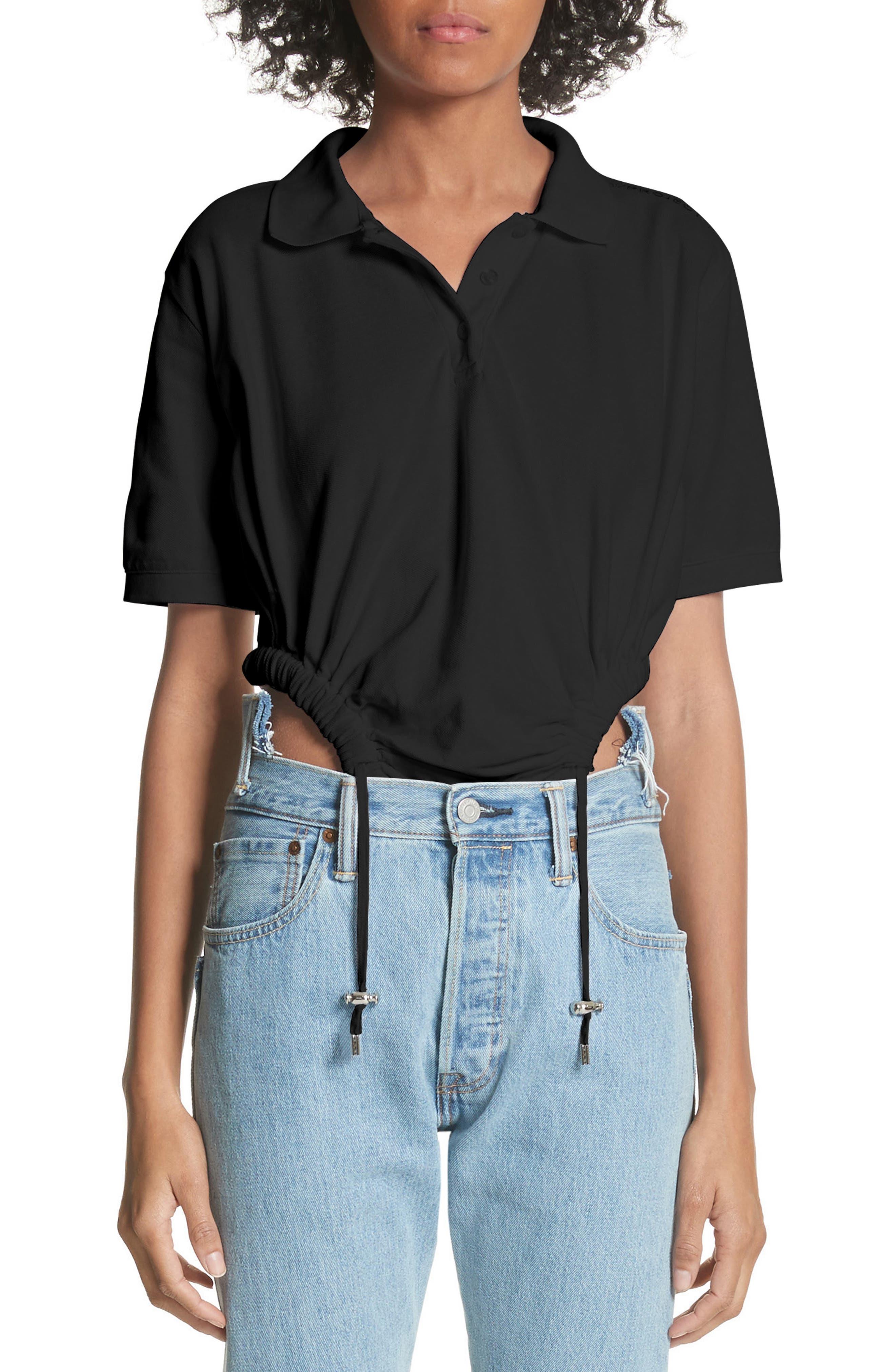 Polo Bodysuit,                             Main thumbnail 1, color,                             Noir