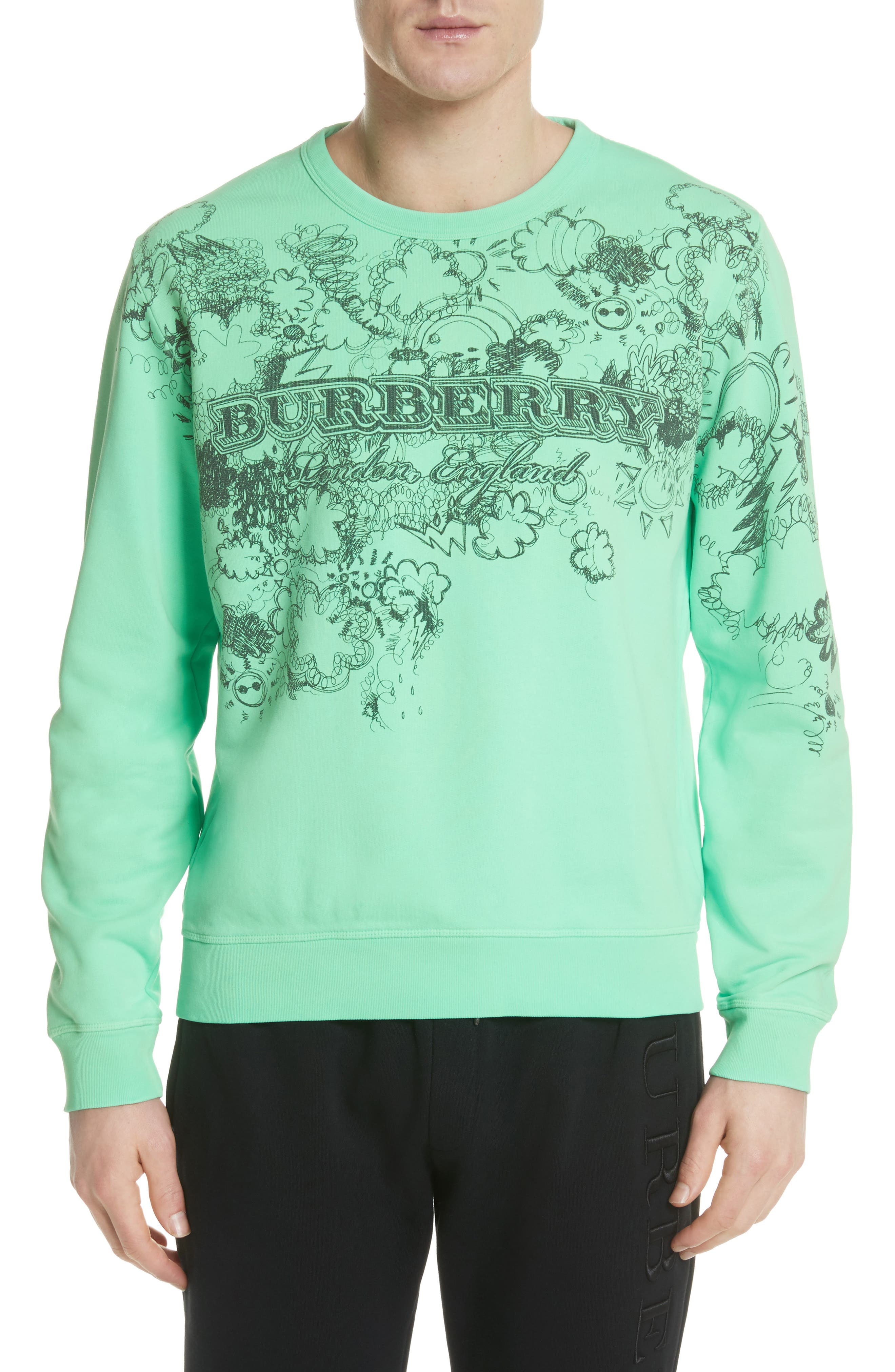 Alternate Image 1 Selected - Burberry Madon Graphic Sweatshirt