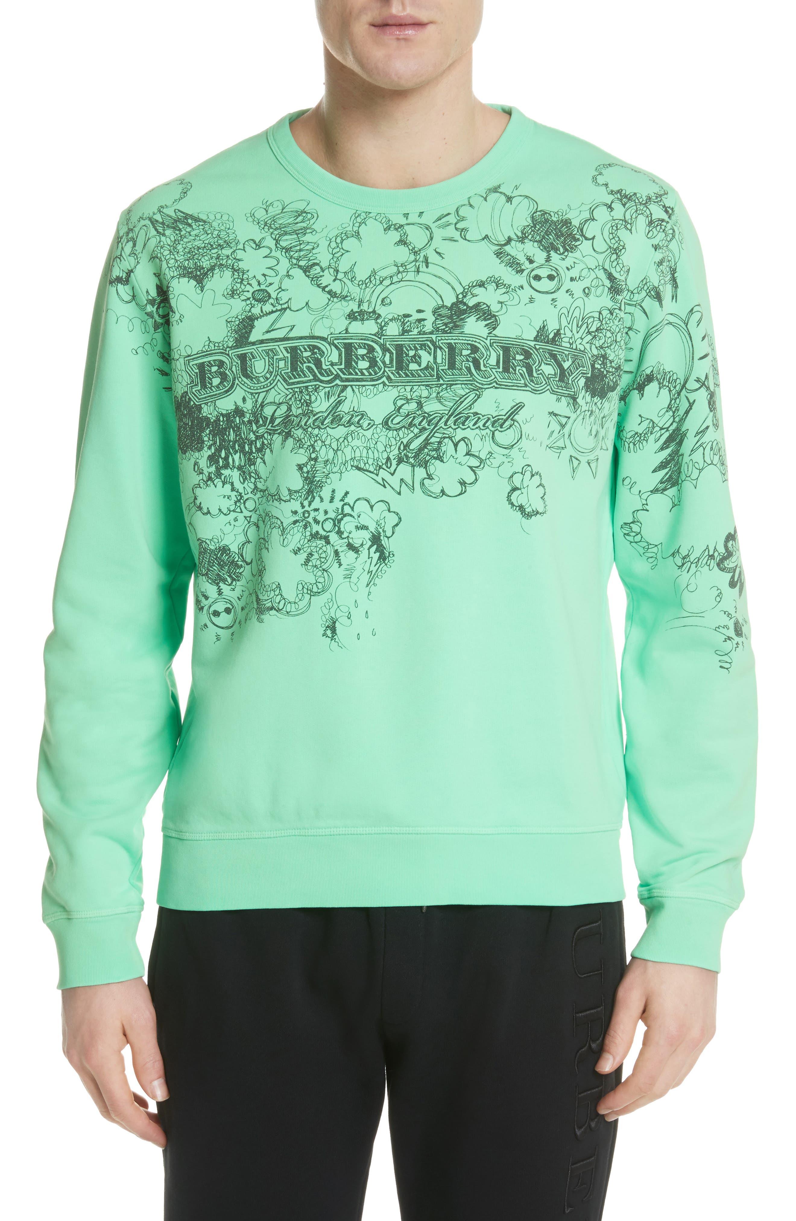 Madon Graphic Sweatshirt,                         Main,                         color, Bright Apple Green