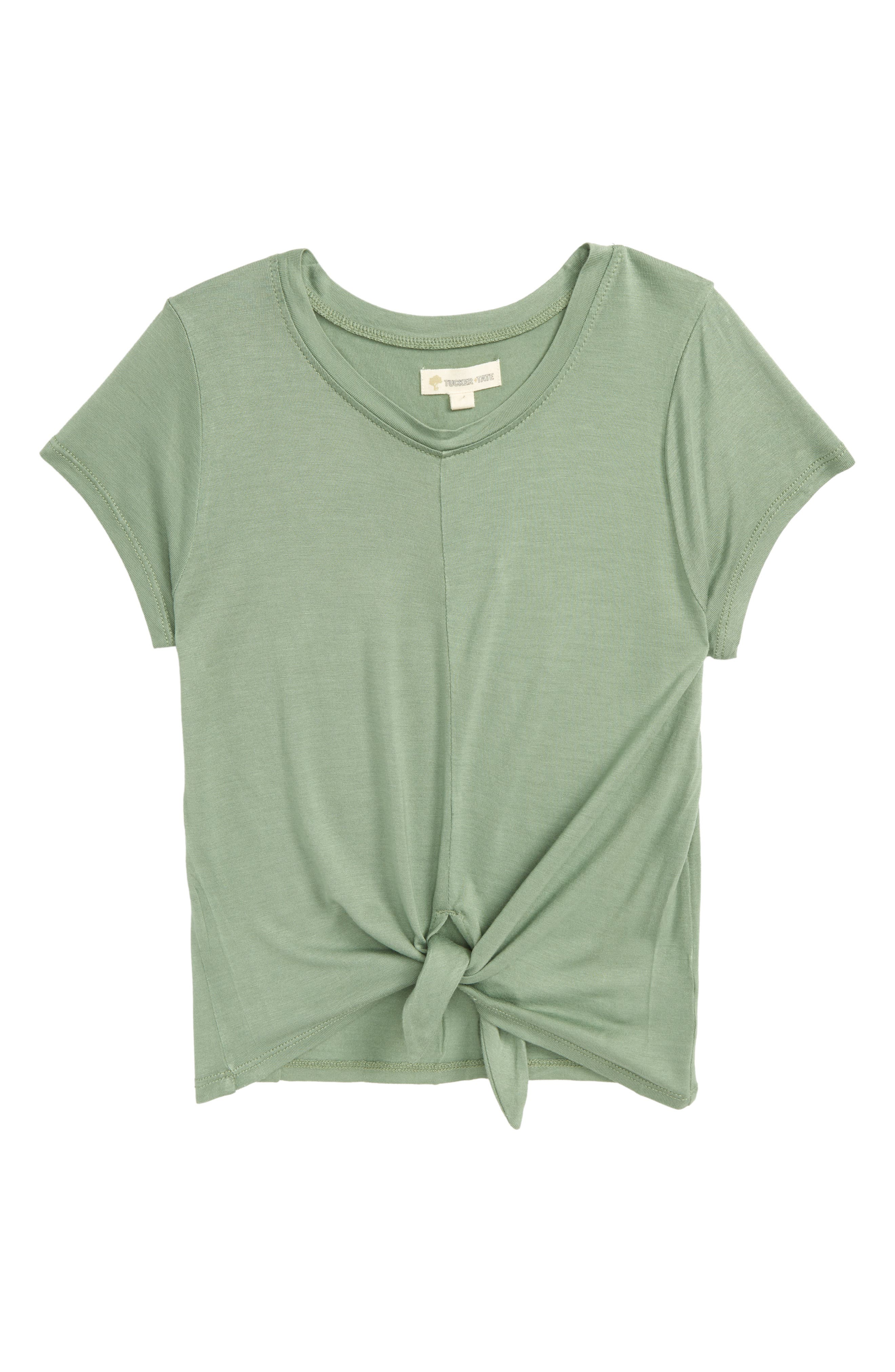 Knot Tee,                         Main,                         color, Green Hedge