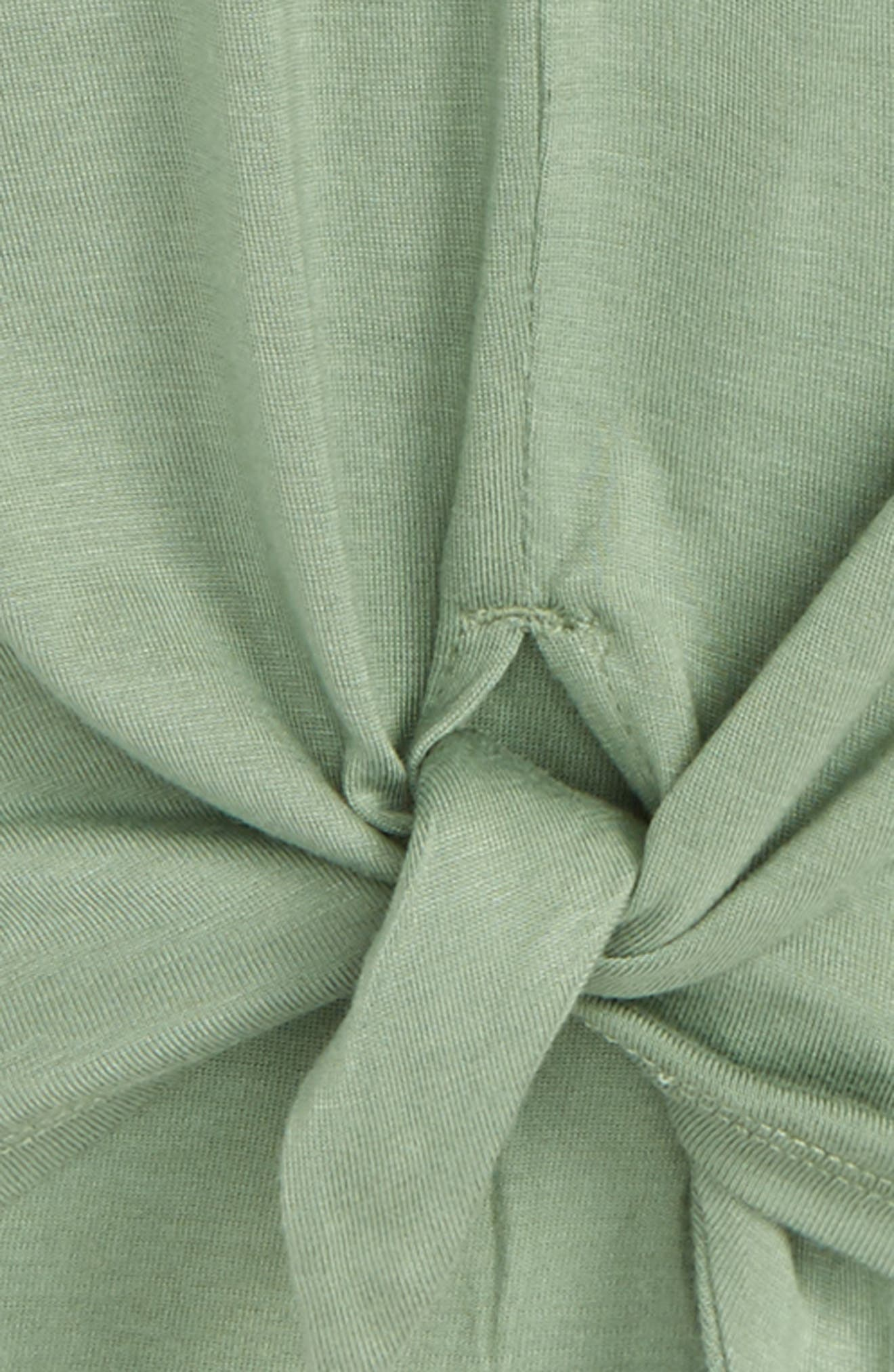 Knot Tee,                             Alternate thumbnail 2, color,                             Green Hedge