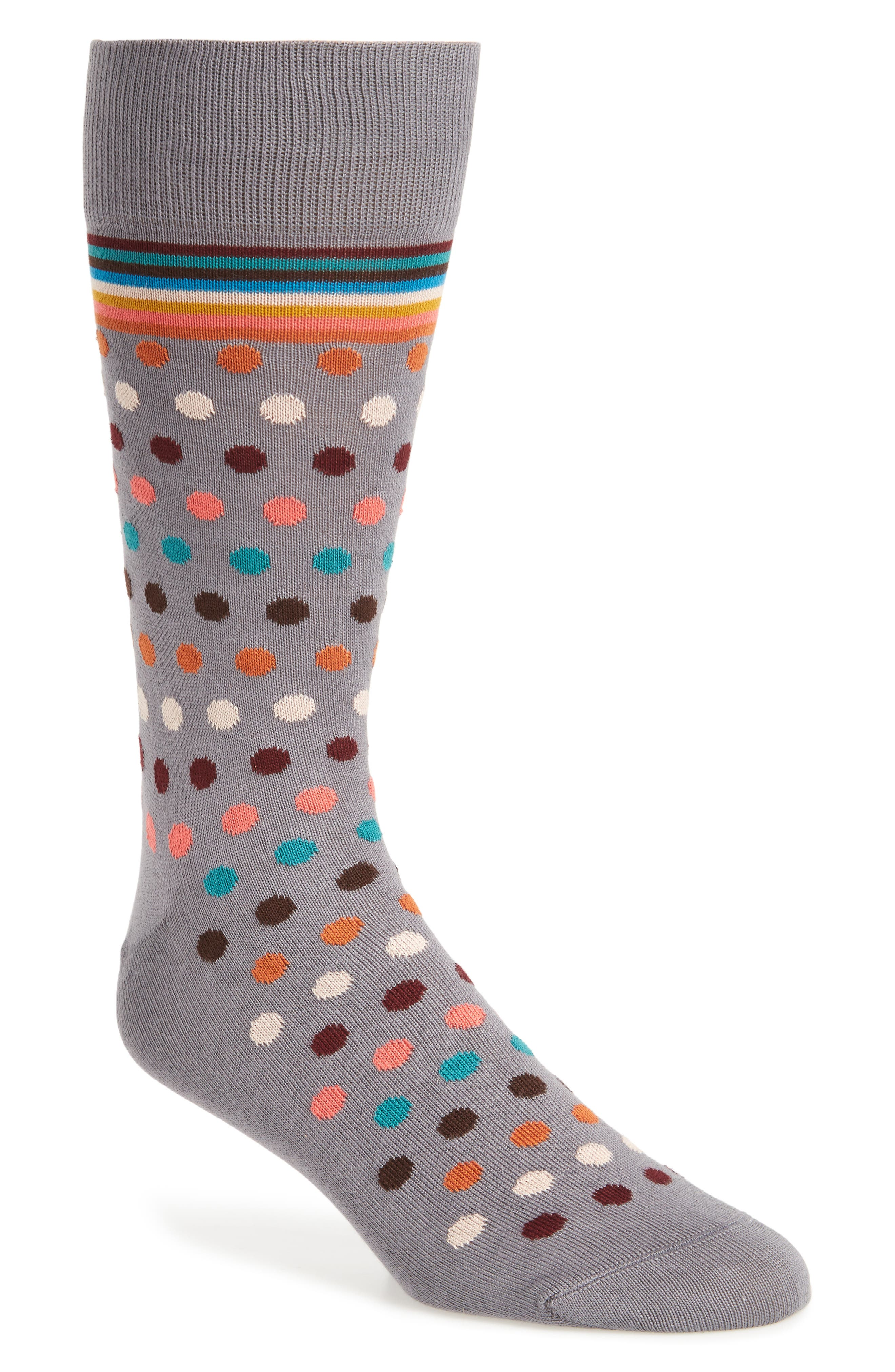 Artist Dot Socks,                             Main thumbnail 1, color,                             Grey