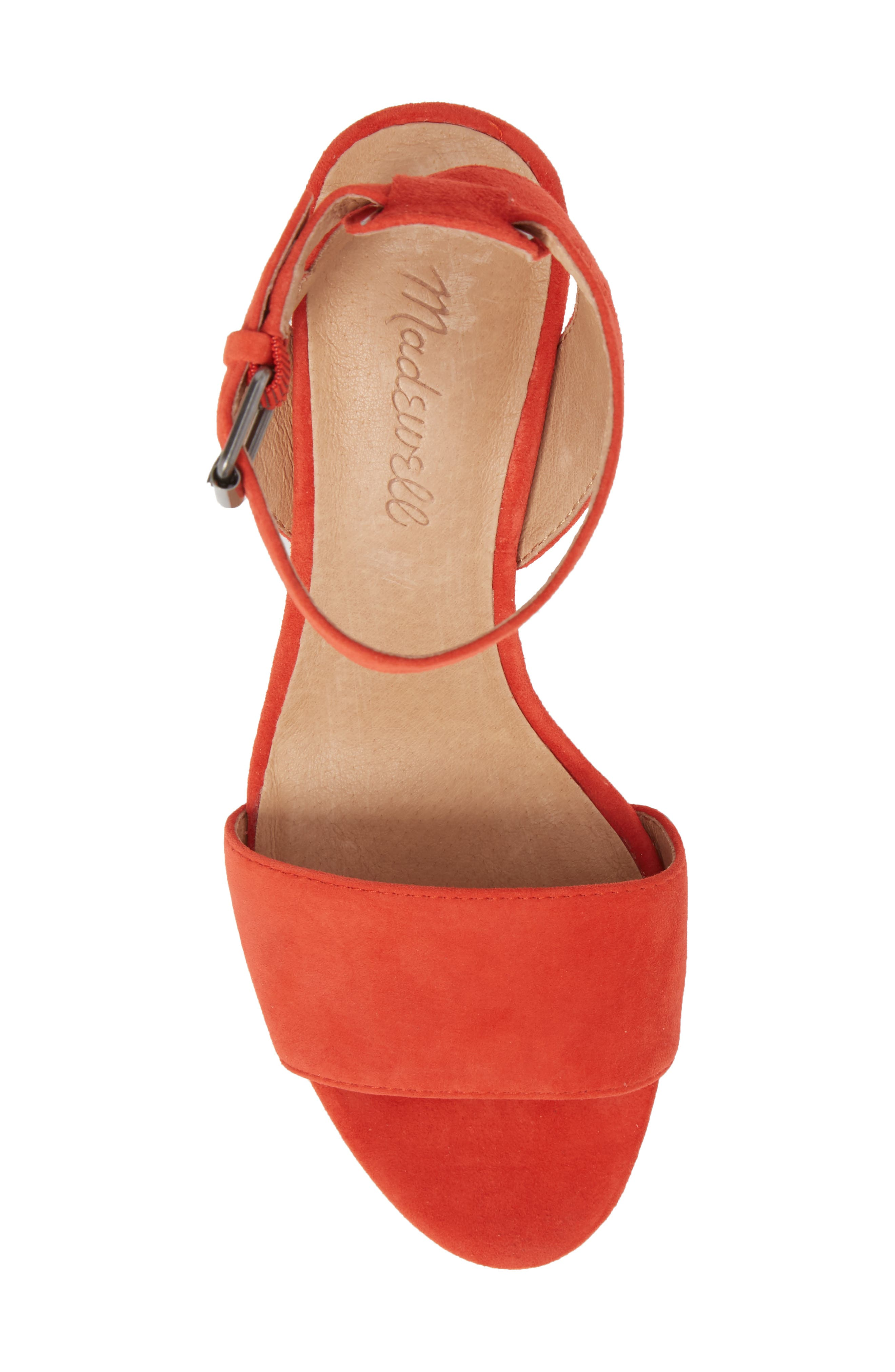 The Claudia Sandal,                             Alternate thumbnail 5, color,                             Siberian Red Suede