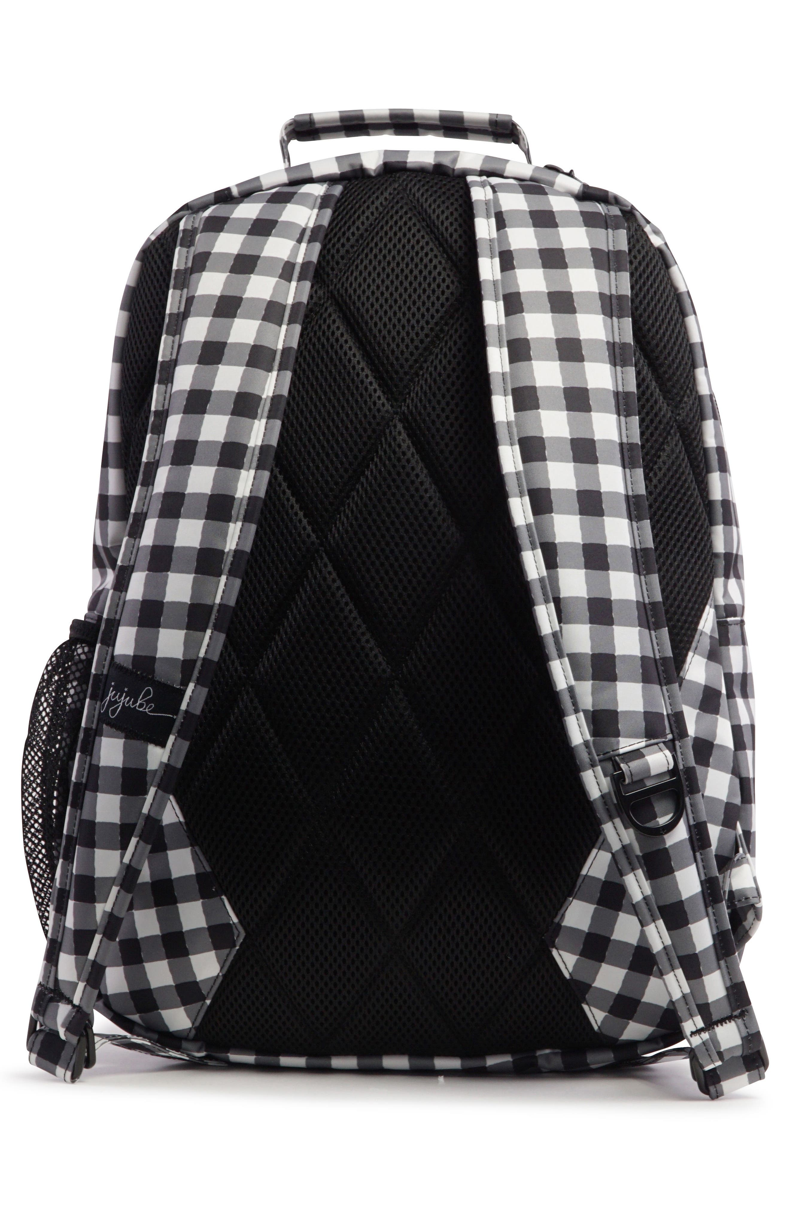 Onyx Be Packed Diaper Backpack,                             Alternate thumbnail 4, color,                             Gingham Style