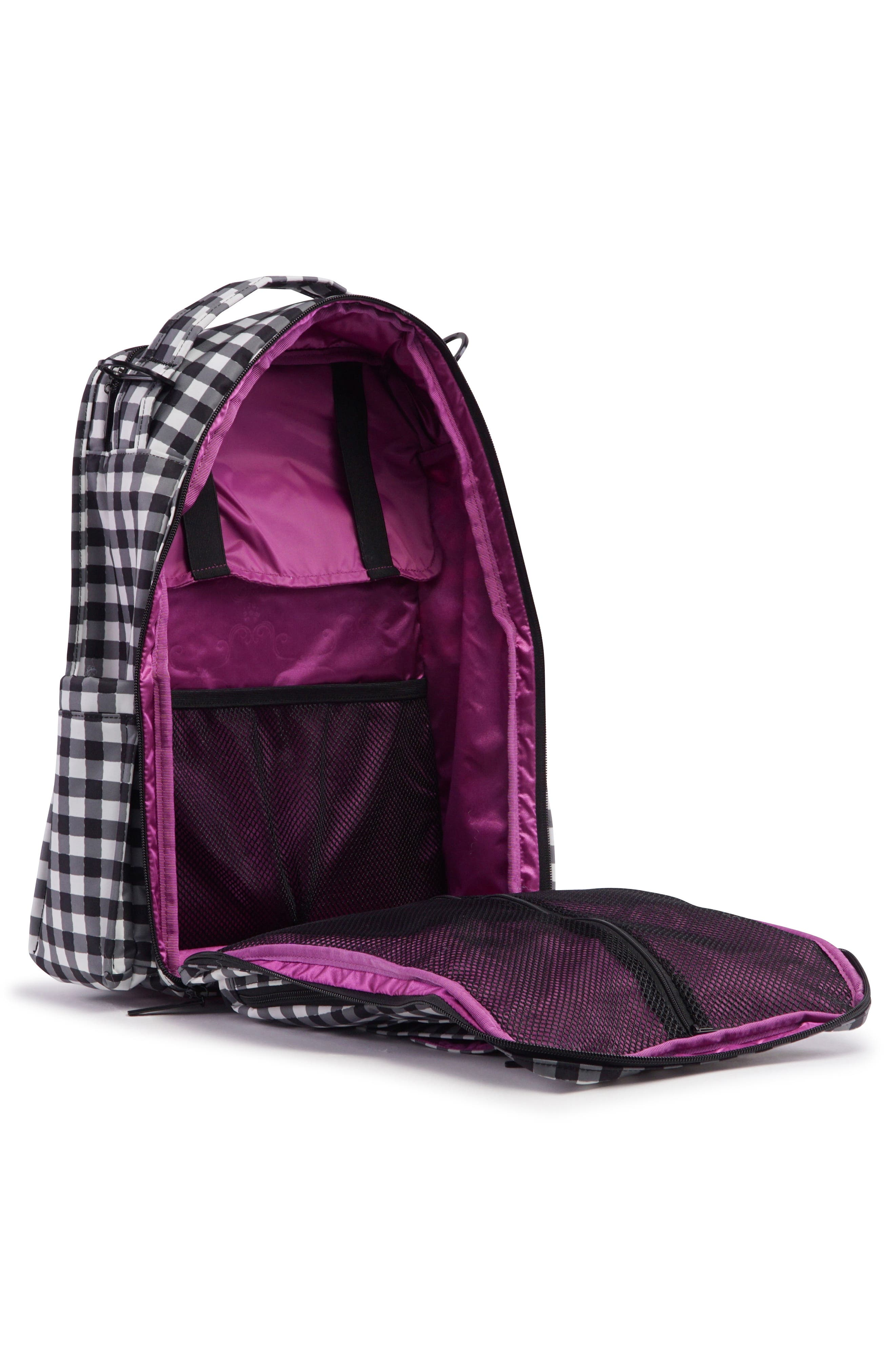 'Be Right Back - Onyx Collection' Diaper Backpack,                             Alternate thumbnail 4, color,                             Gingham Style
