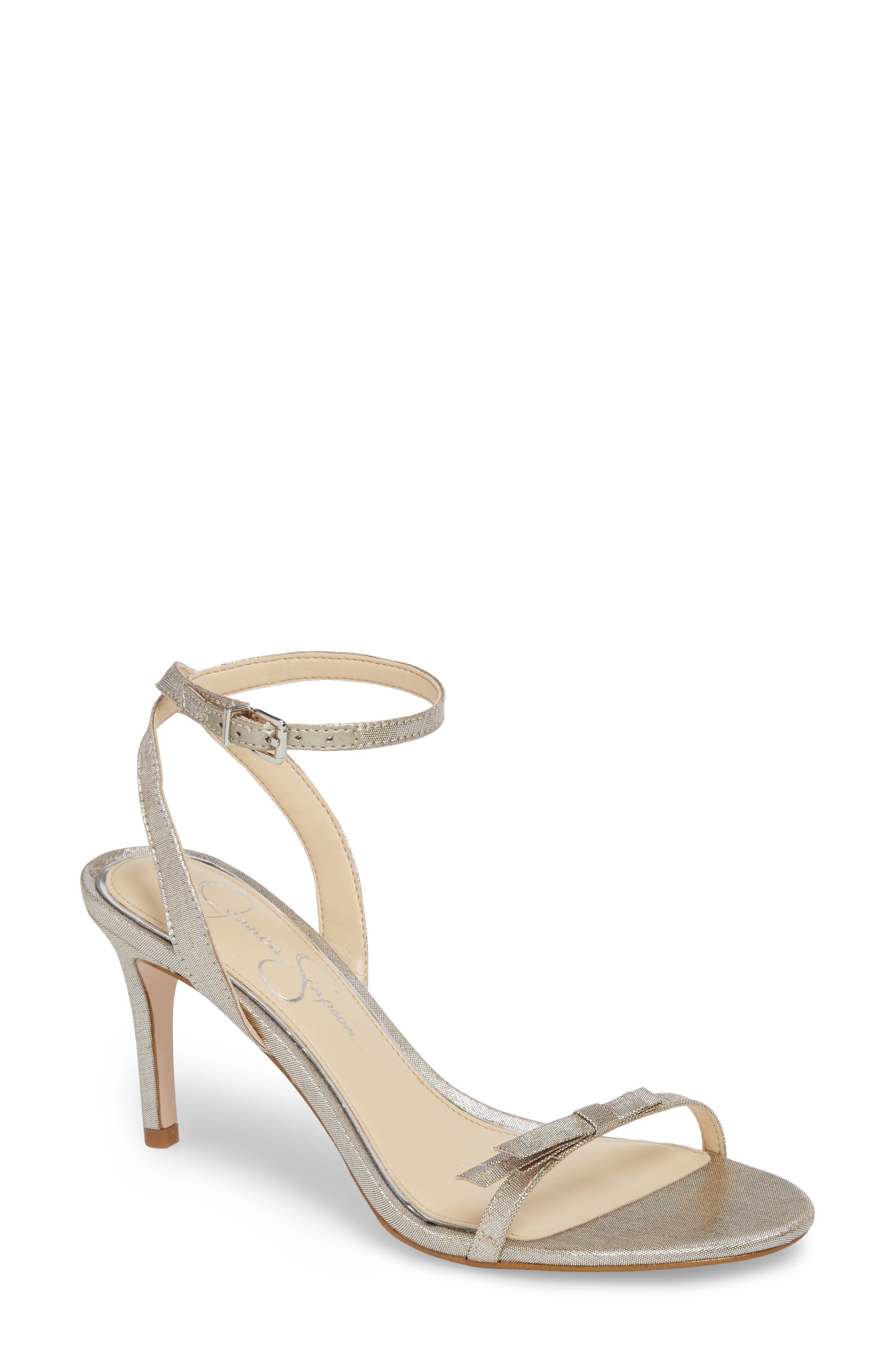 Purella Sandal,                         Main,                         color, Shimmer Silver