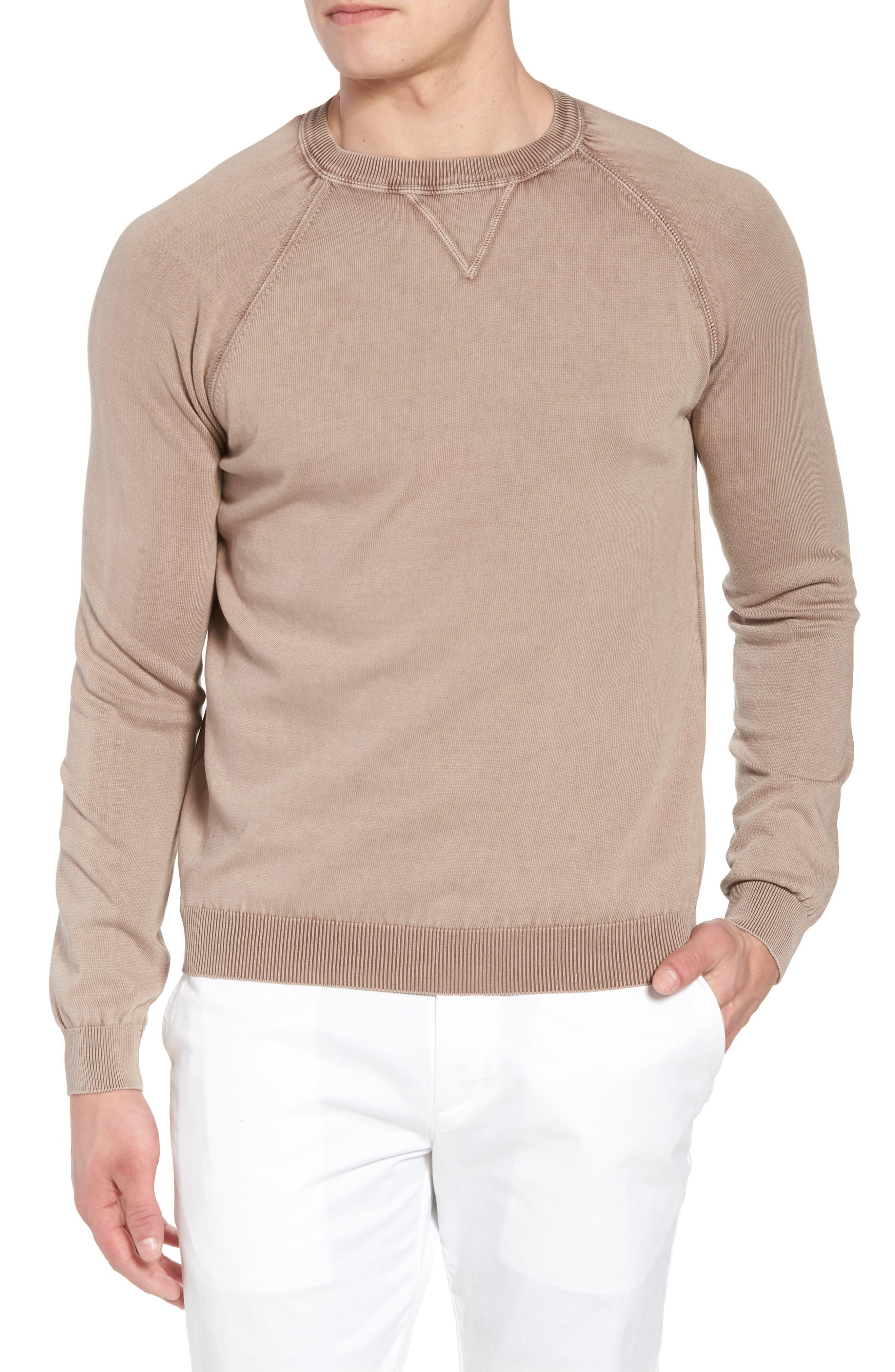Stonewash Cotton Sweatshirt,                         Main,                         color, Washed Bark
