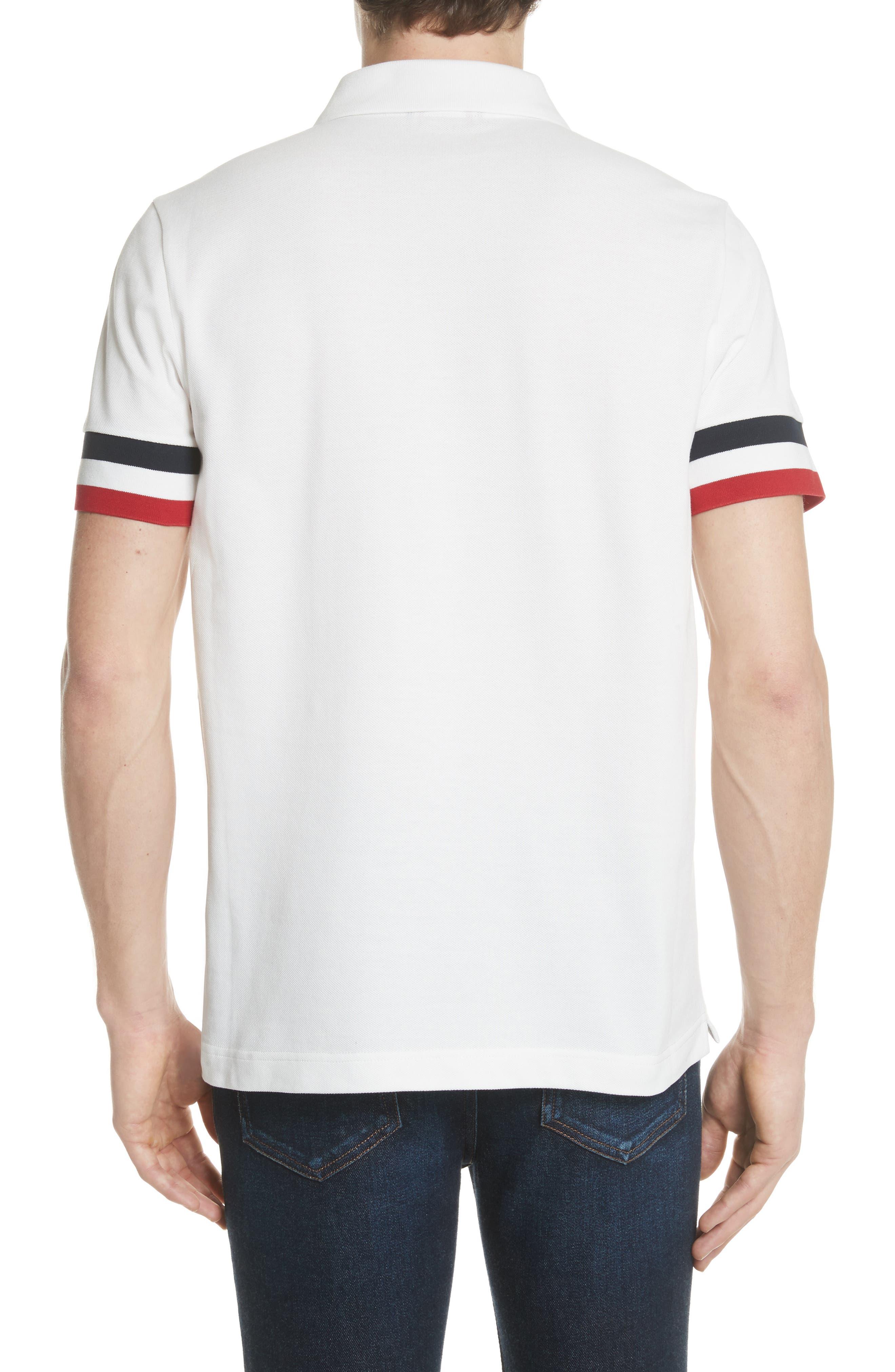 Flag Sleeve Polo,                             Alternate thumbnail 2, color,                             Ivory
