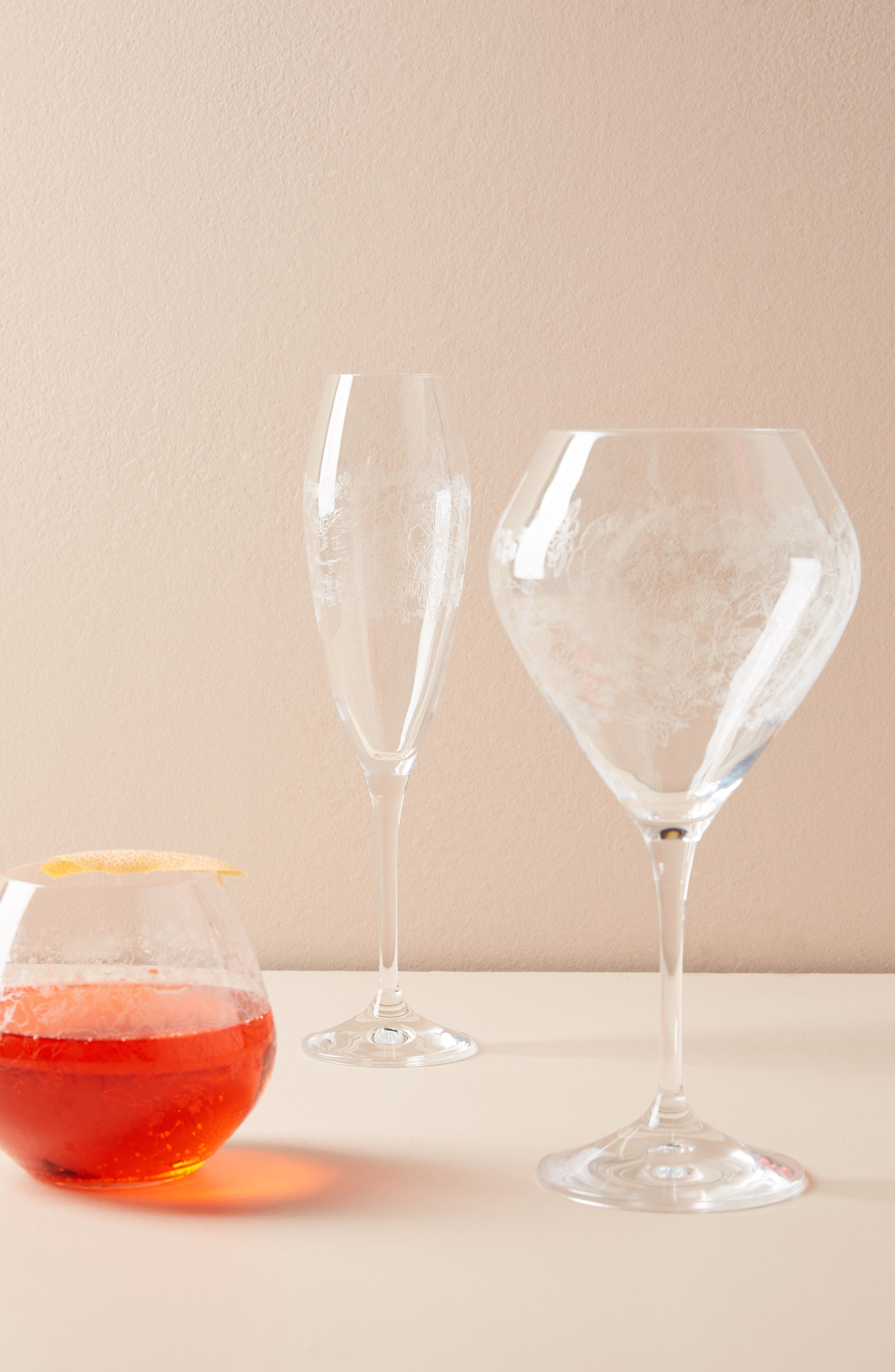 Gardenshire Wine Glass,                             Alternate thumbnail 3, color,                             Clear