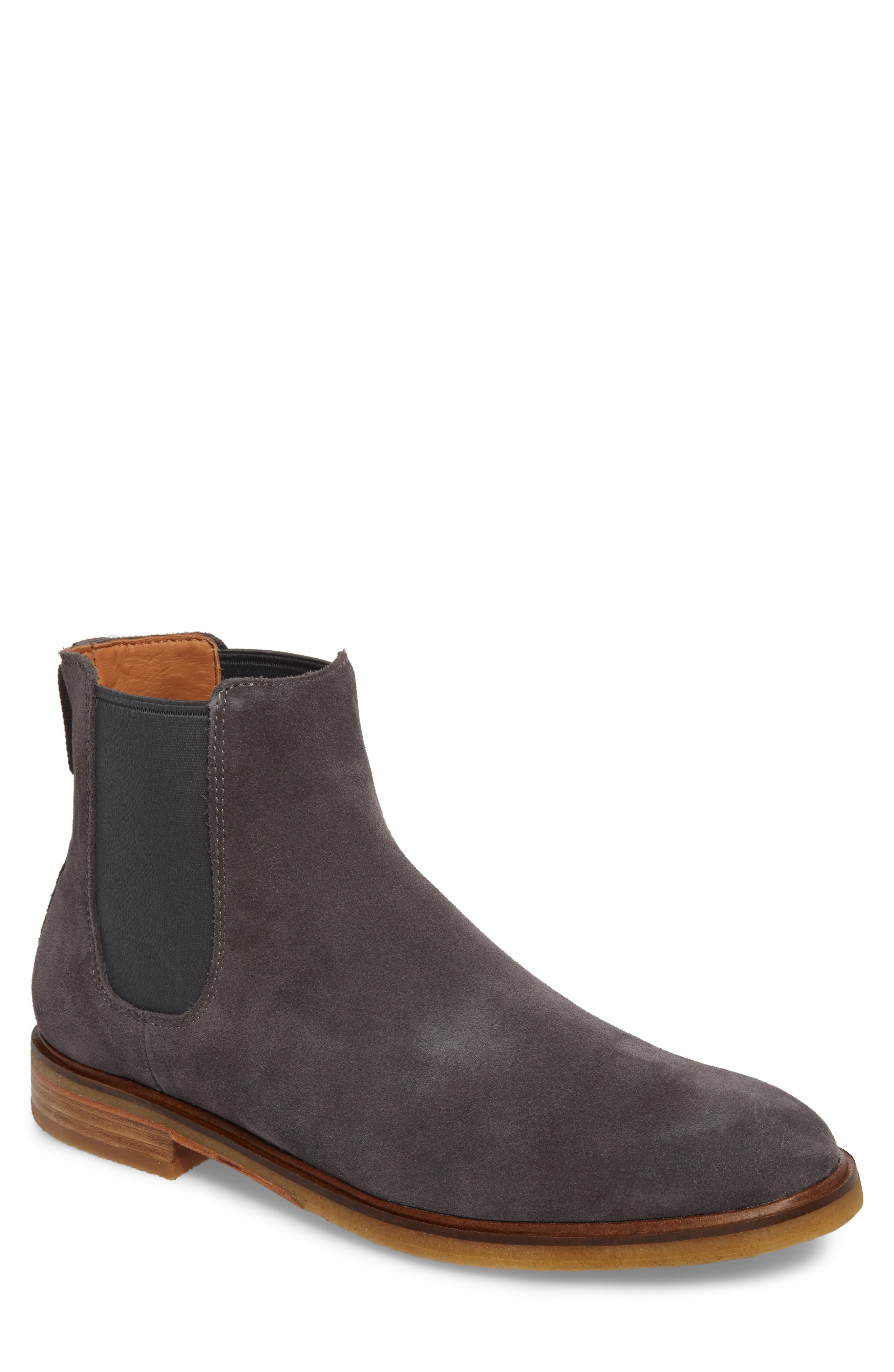 Clarkdale Chelsea Boot,                             Main thumbnail 1, color,                             Grey Suede