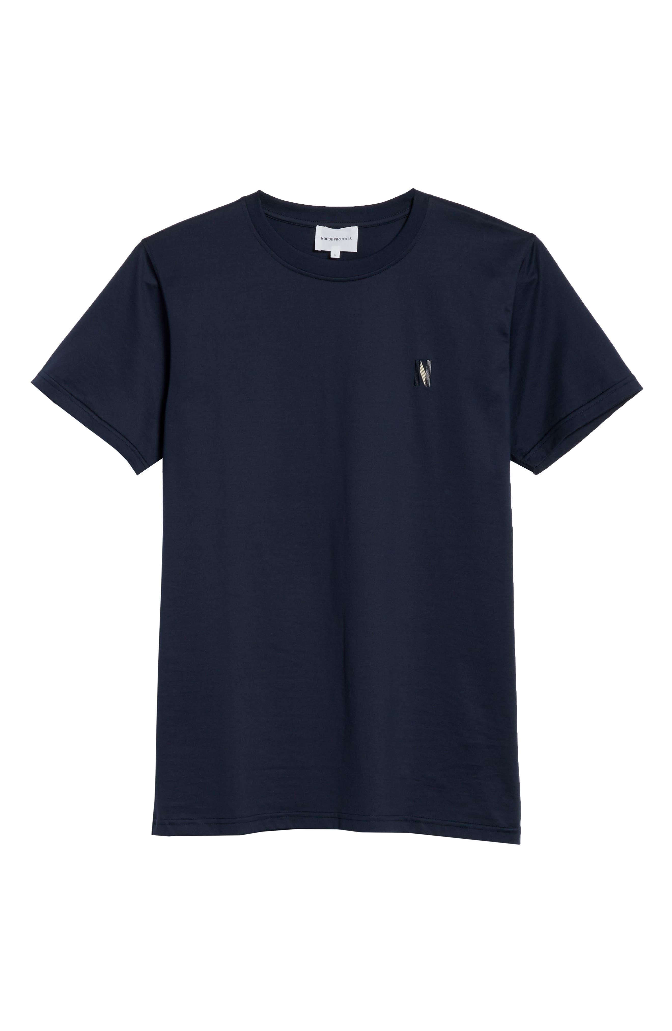 Niels N-Logo T-Shirt,                             Alternate thumbnail 6, color,                             Dark Navy