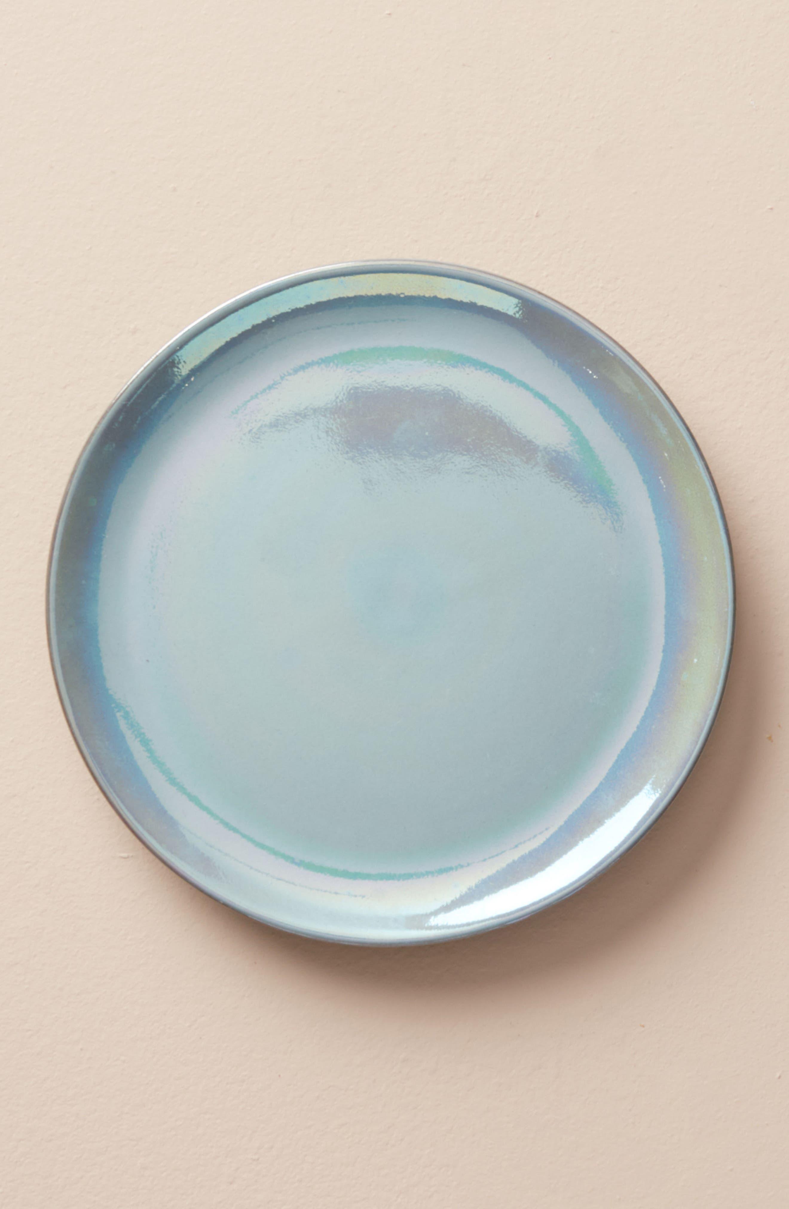 Aliza Canapé Plate,                             Main thumbnail 1, color,                             Sapphire