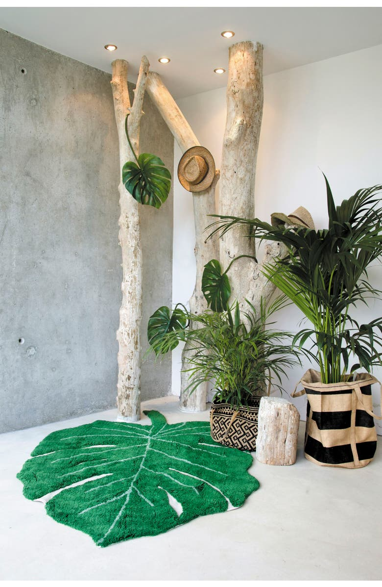 #Monstera Leaf Rug