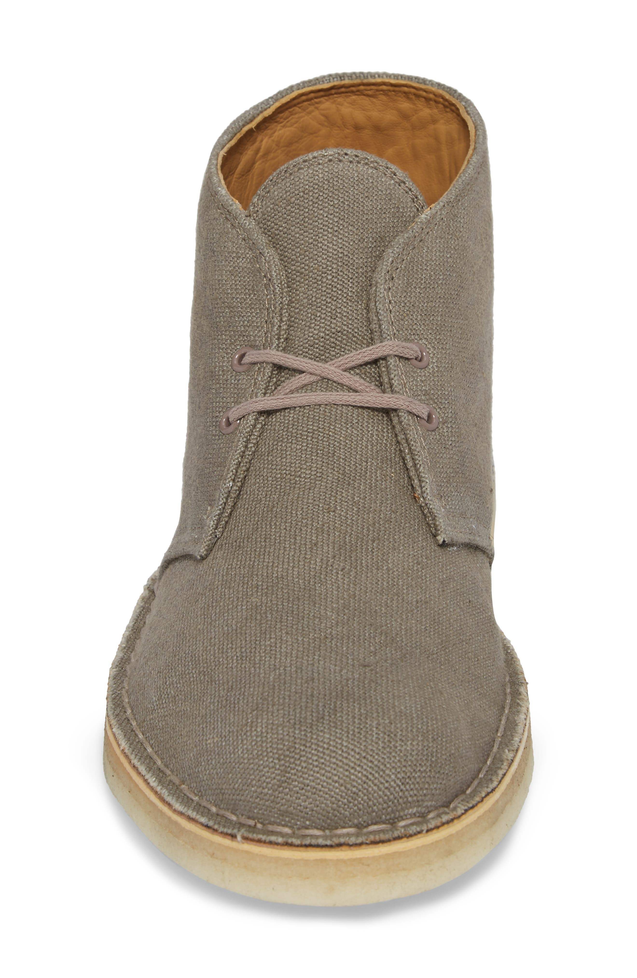 Clarks<sup>®</sup> Desert Chukka Boot,                             Alternate thumbnail 4, color,                             Taupe Canvas