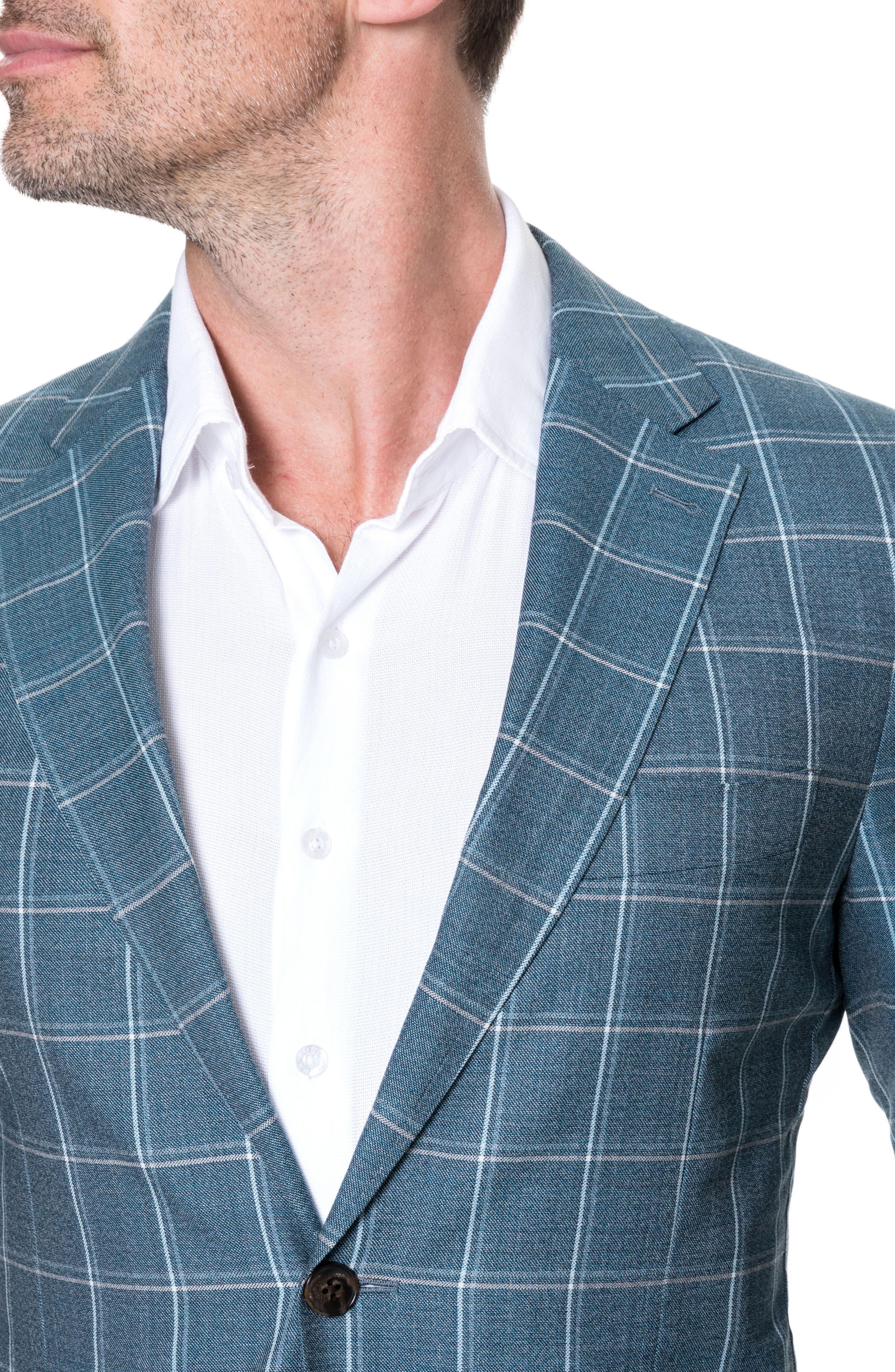 Middleton Regular Fit Wool Sport Coat,                             Alternate thumbnail 5, color,                             Sage