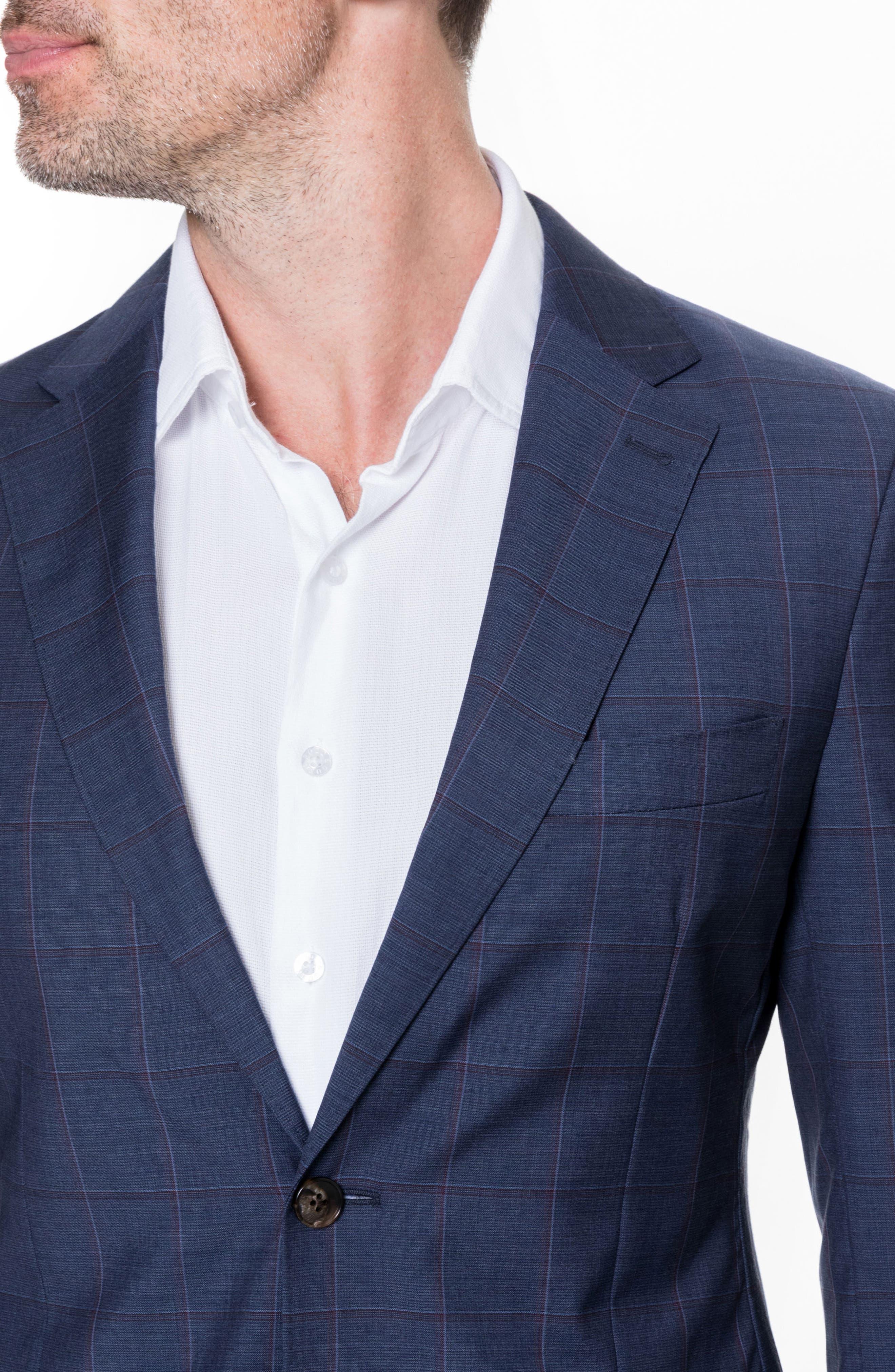 Luxbridge Regular Fit Wool Sport Coat,                             Alternate thumbnail 3, color,                             Midnight