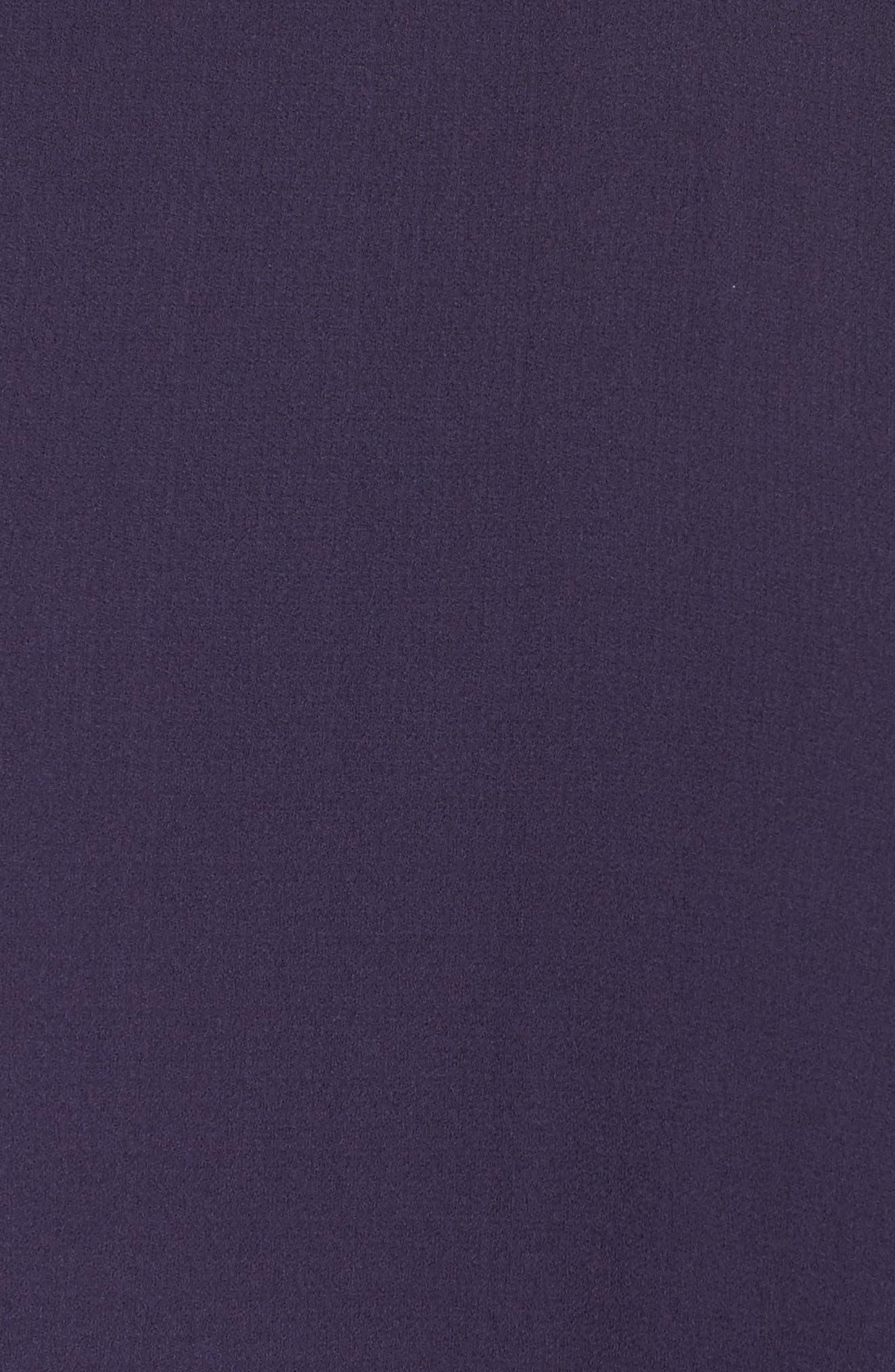 Flare Sleeve Silk Shift Dress,                             Alternate thumbnail 5, color,                             Salt Lake