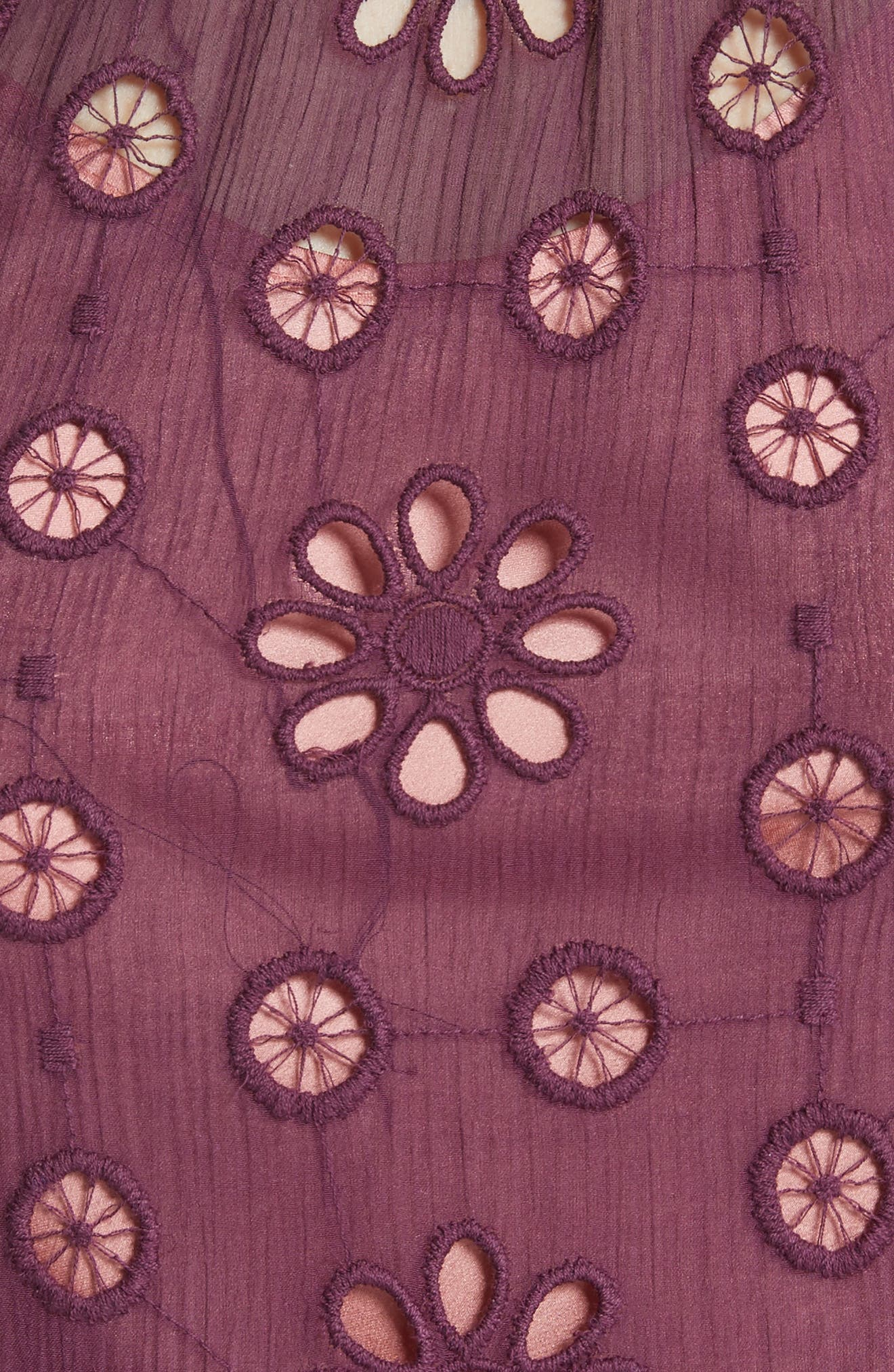 Pinwheel Eyelet Dress,                             Alternate thumbnail 5, color,                             Plum