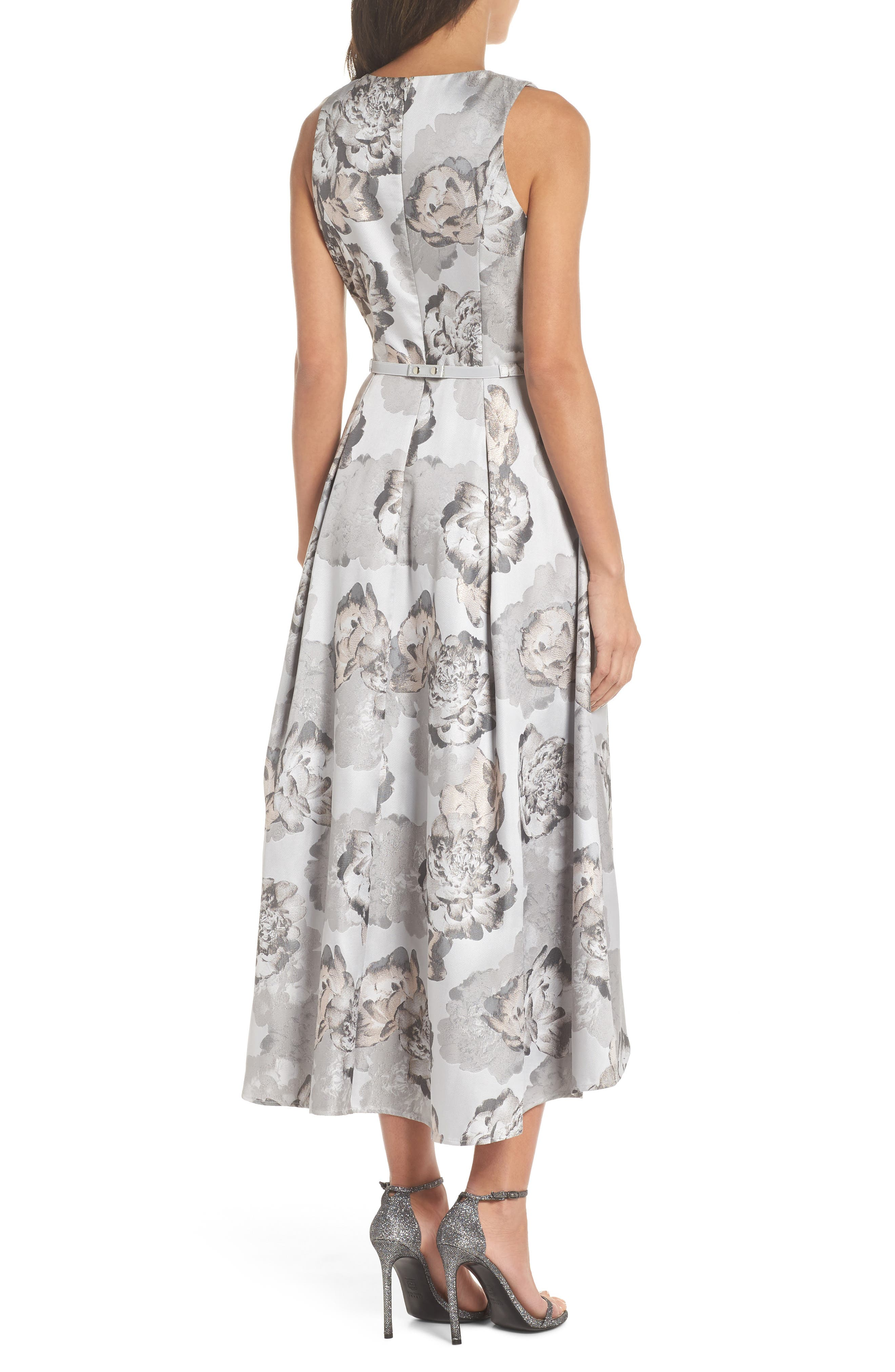 High/Low Gown,                             Alternate thumbnail 2, color,                             Pale Grey