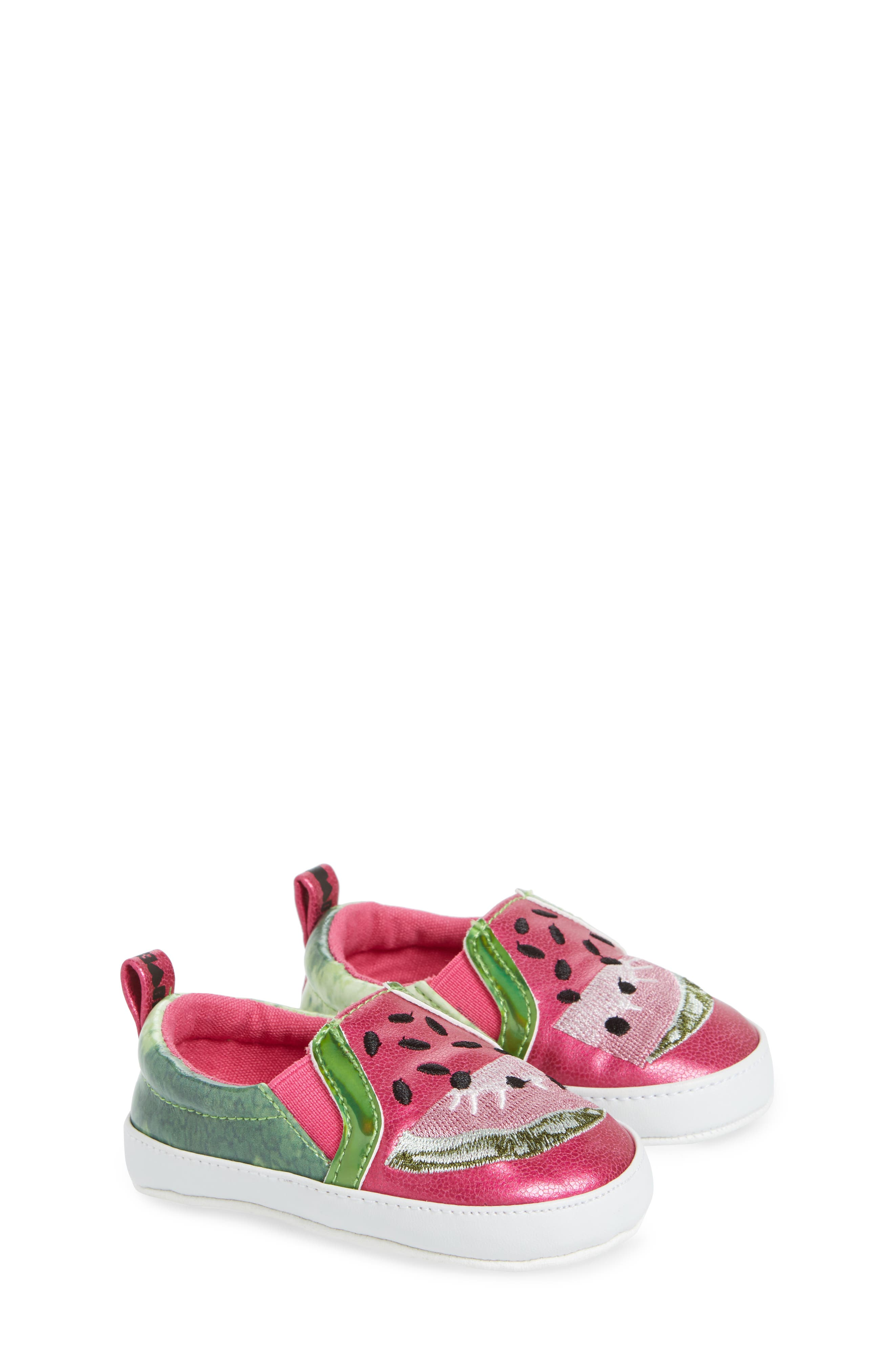 Baby Blane Watermelon Sneaker,                             Alternate thumbnail 3, color,                             Fuchsia Faux Leather