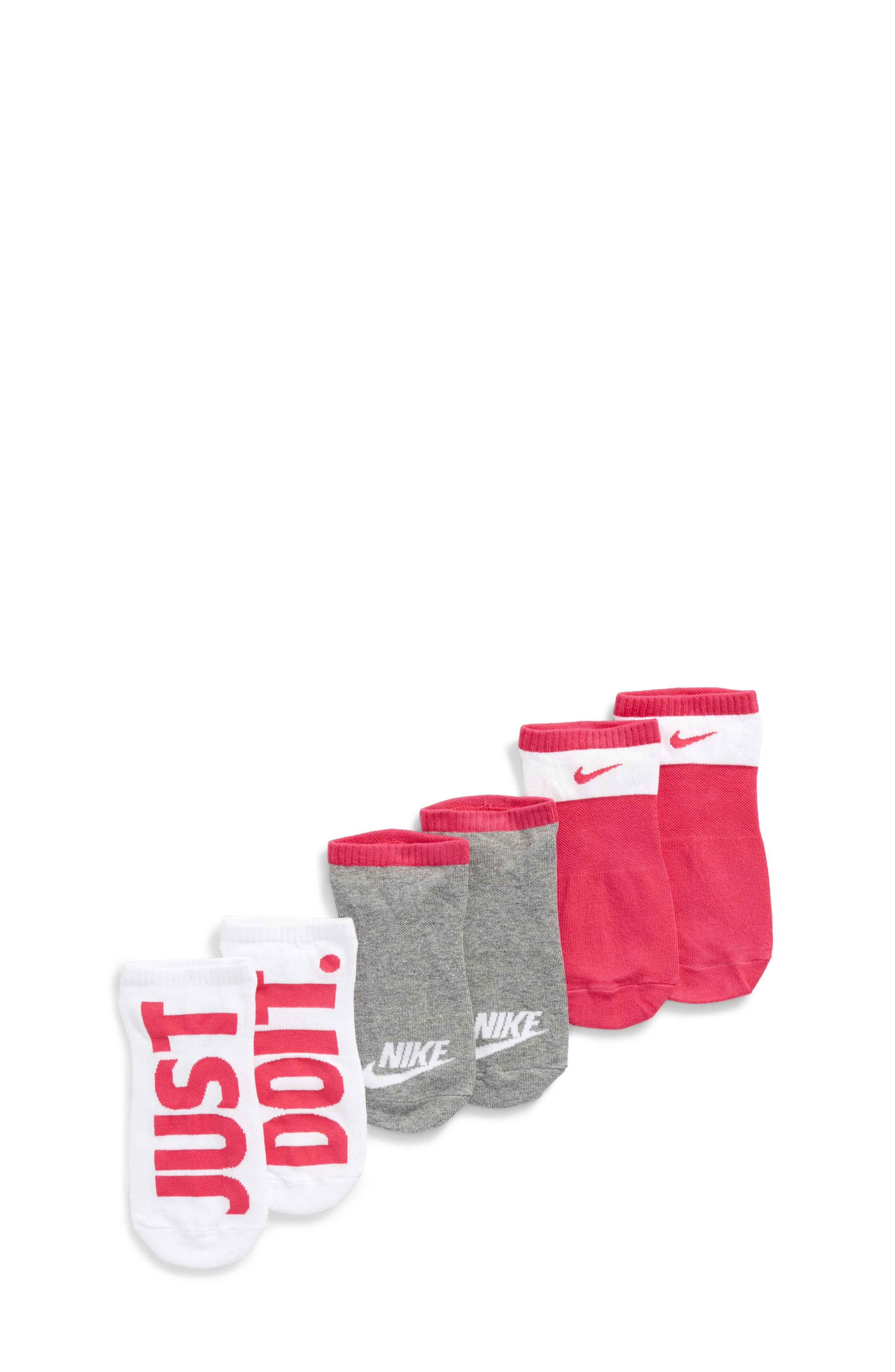 Nike Performance 3-Pack No-Show Socks (Big Kid)