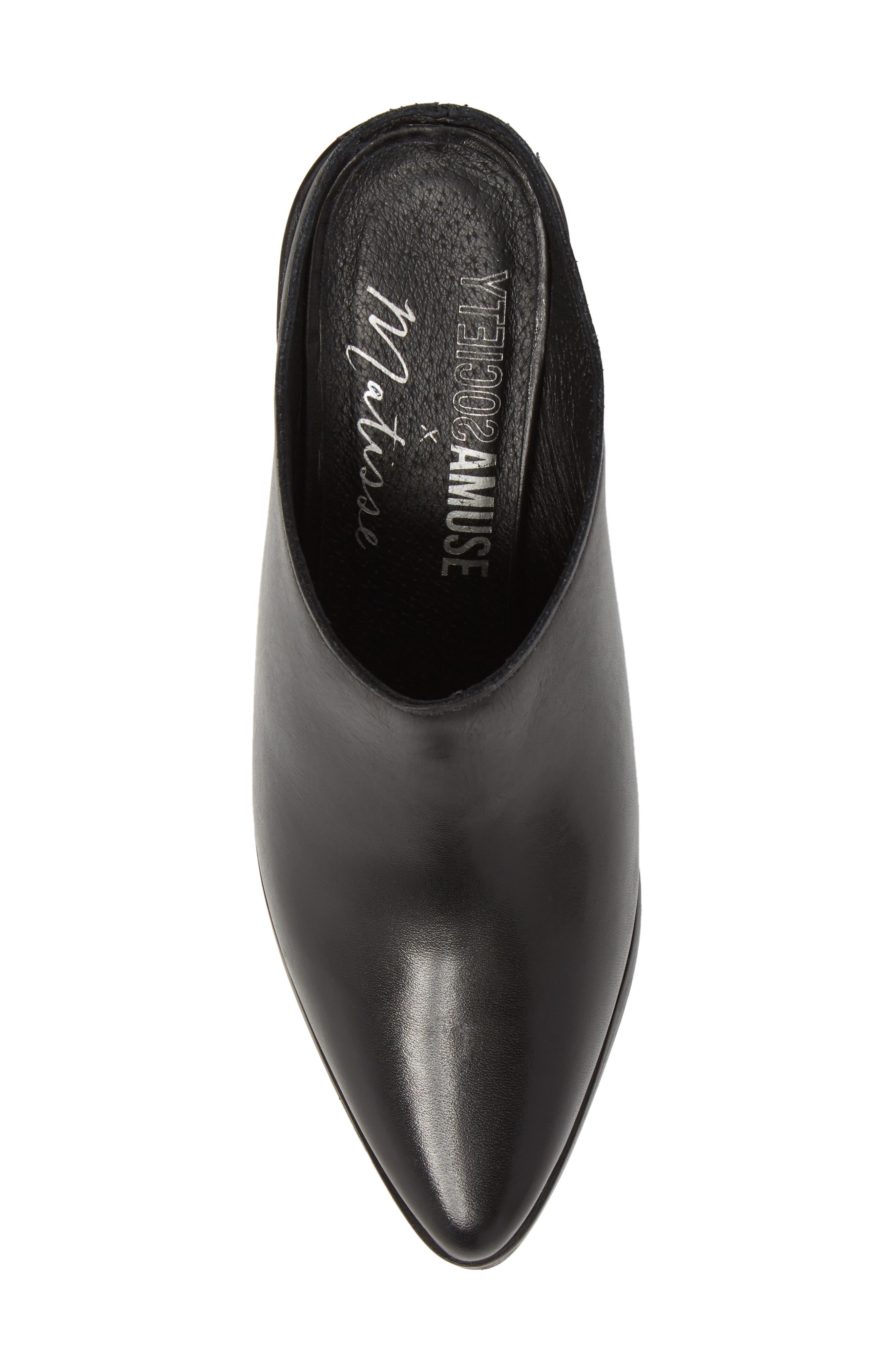 Amuse Society x Matisse Aria Mule,                             Alternate thumbnail 5, color,                             Black Leather