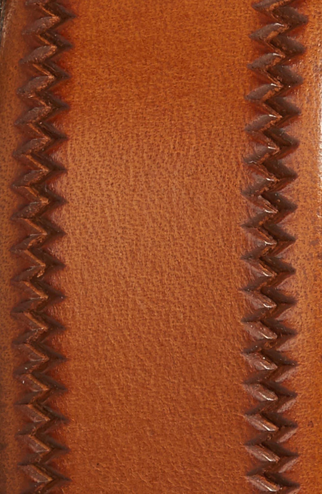 Alternate Image 2  - Torino Belts Embossed Leather Belt
