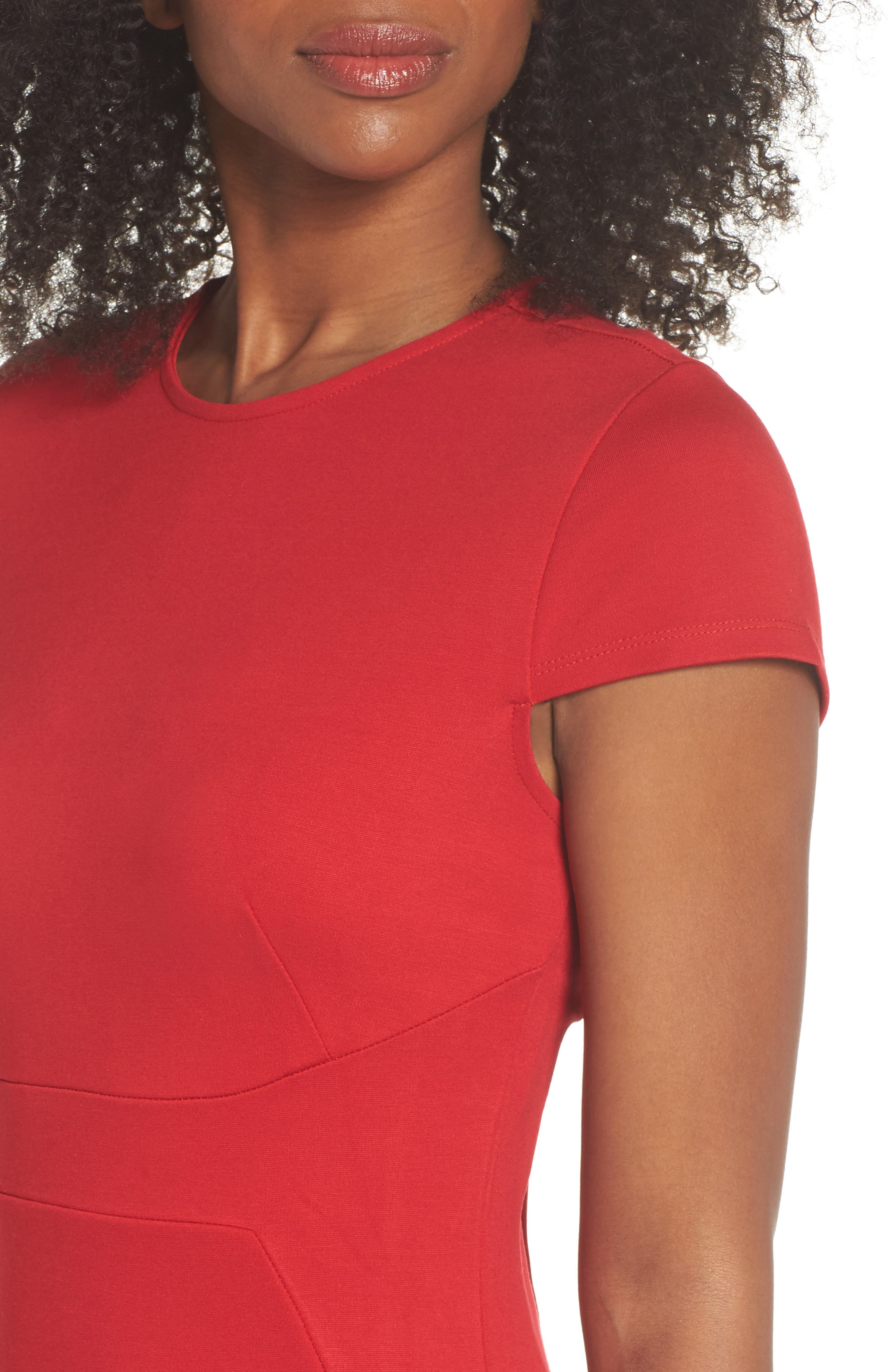 Austin Sheath Dress,                             Alternate thumbnail 4, color,                             Tango Red