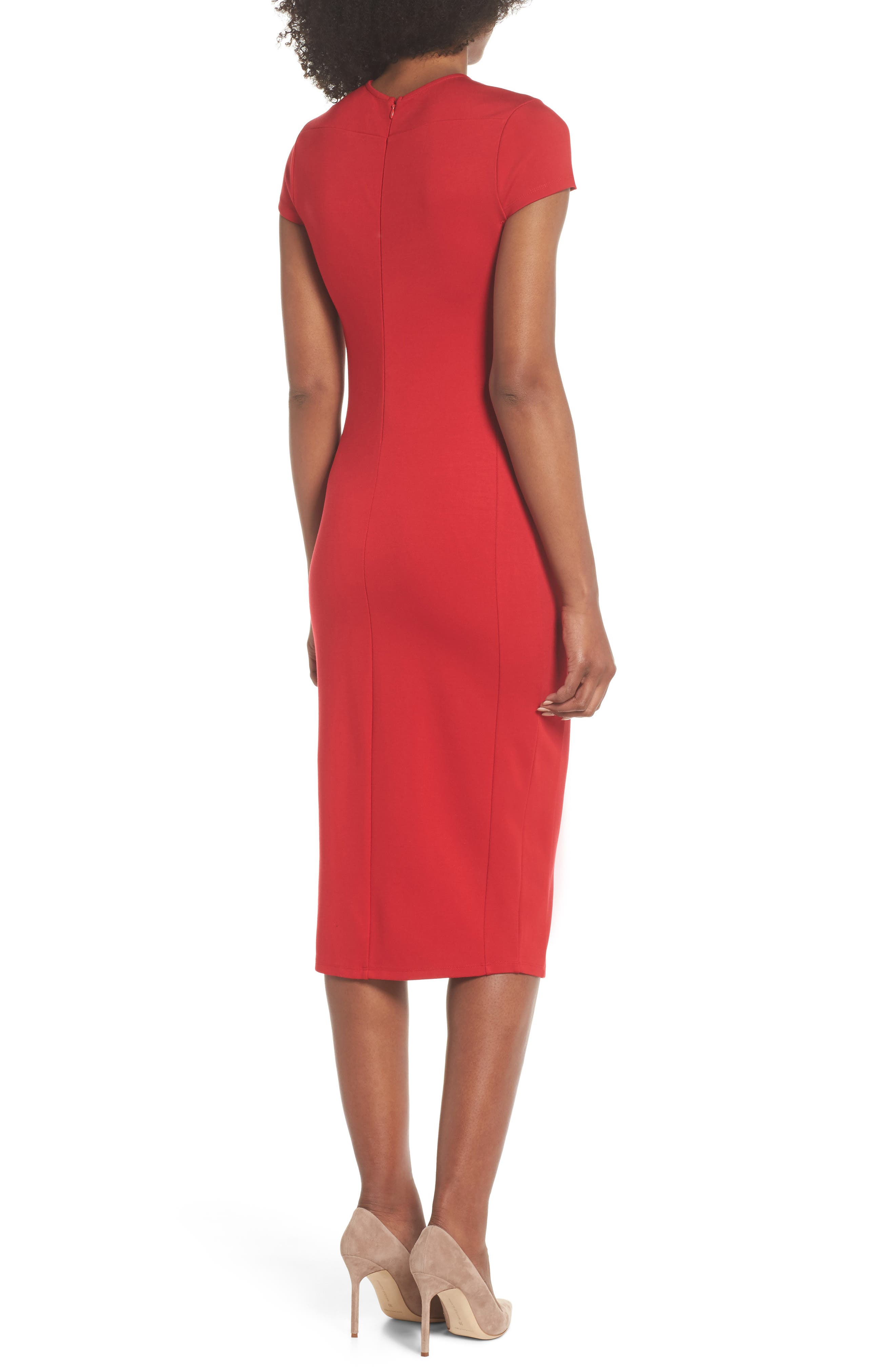 Austin Sheath Dress,                             Alternate thumbnail 2, color,                             Tango Red