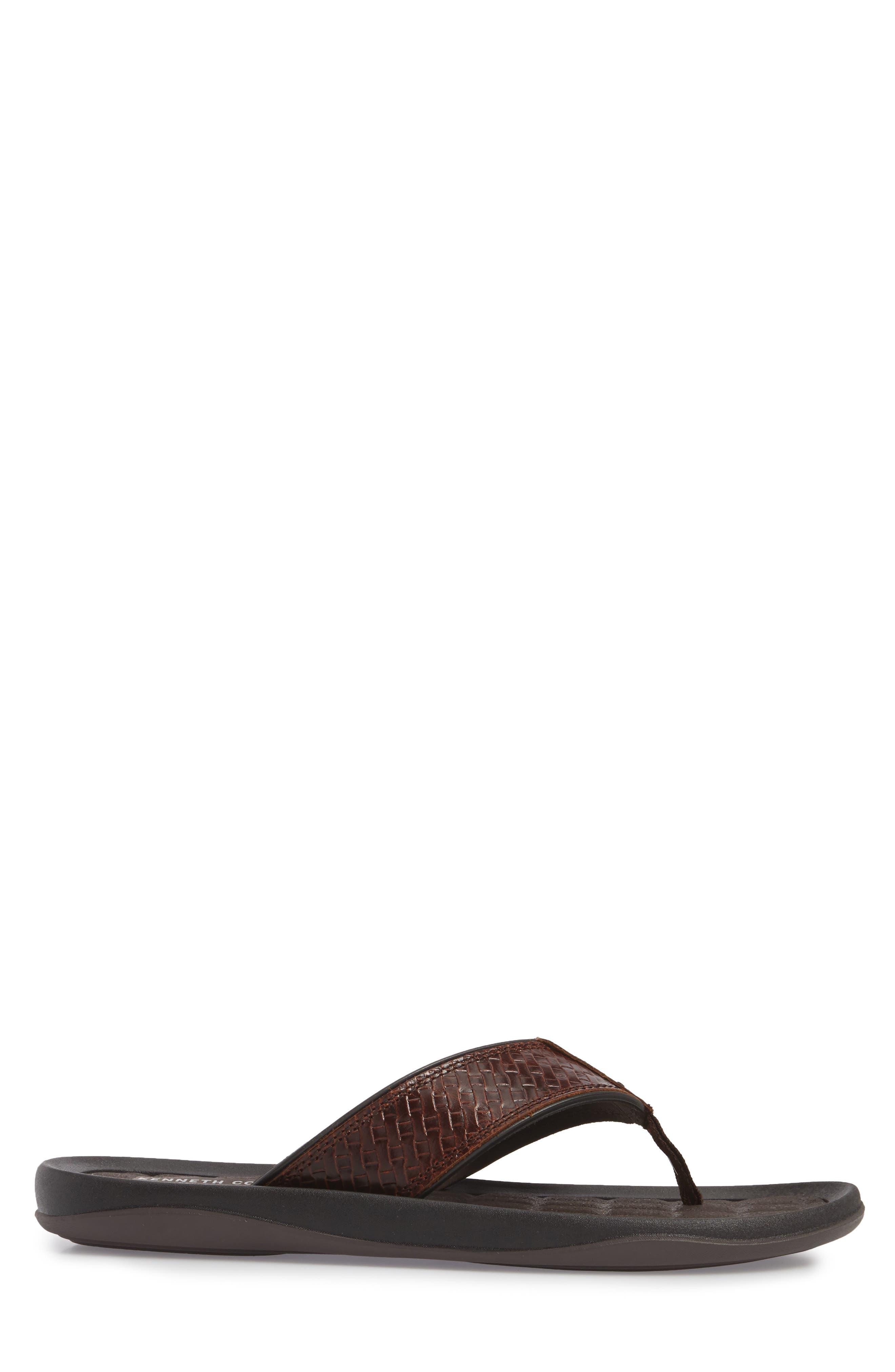 Alternate Image 3  - Kenneth Cole New York Izzo Embossed Flip Flop (Men)
