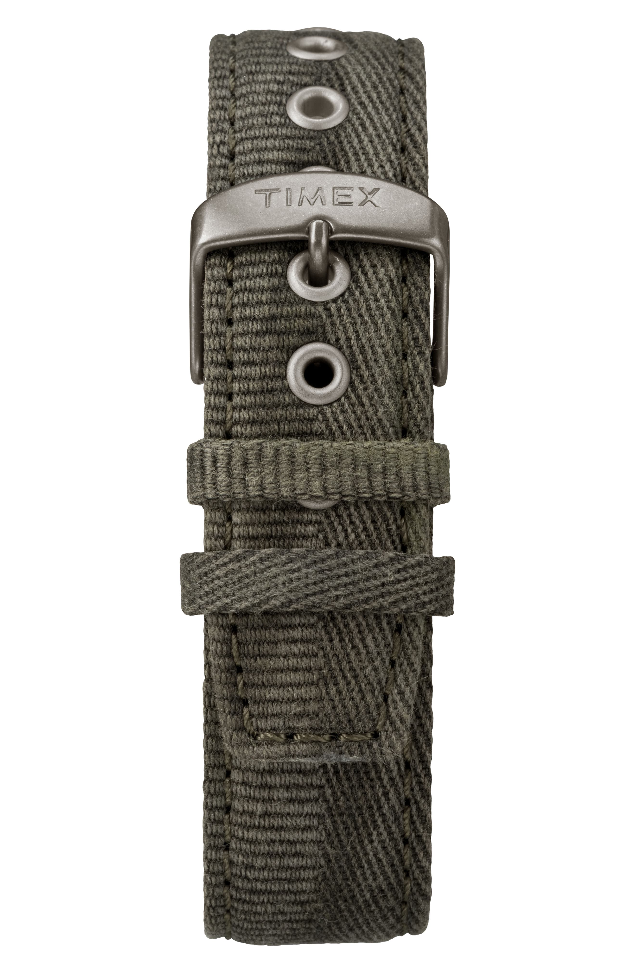 Timex Allied Chronograph Canvas Strap Watch, 42mm,                             Alternate thumbnail 2, color,                             Olive/ Black/ Grey