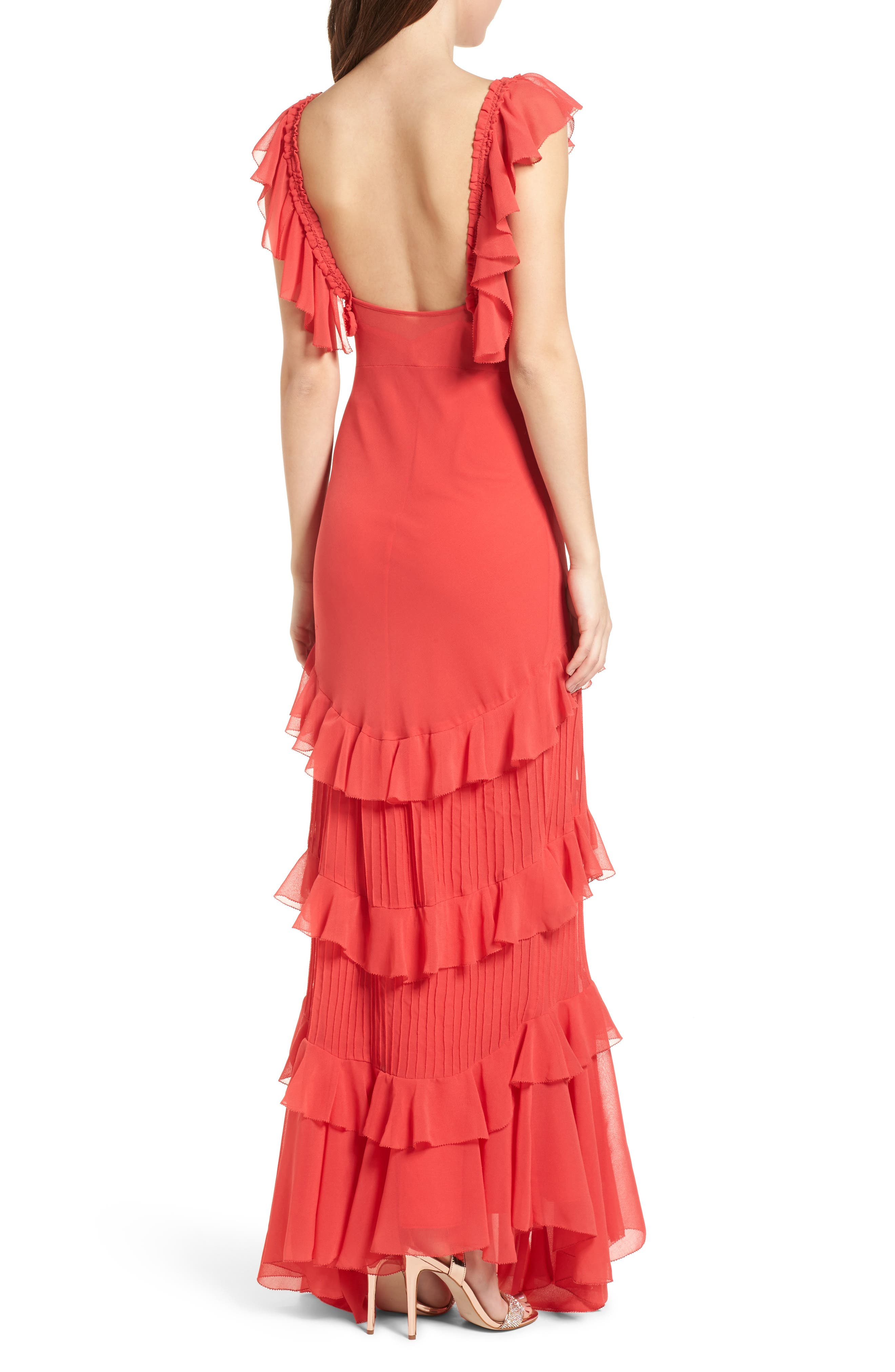 Alternate Image 3  - Topshop Ruffle Maxi Dress