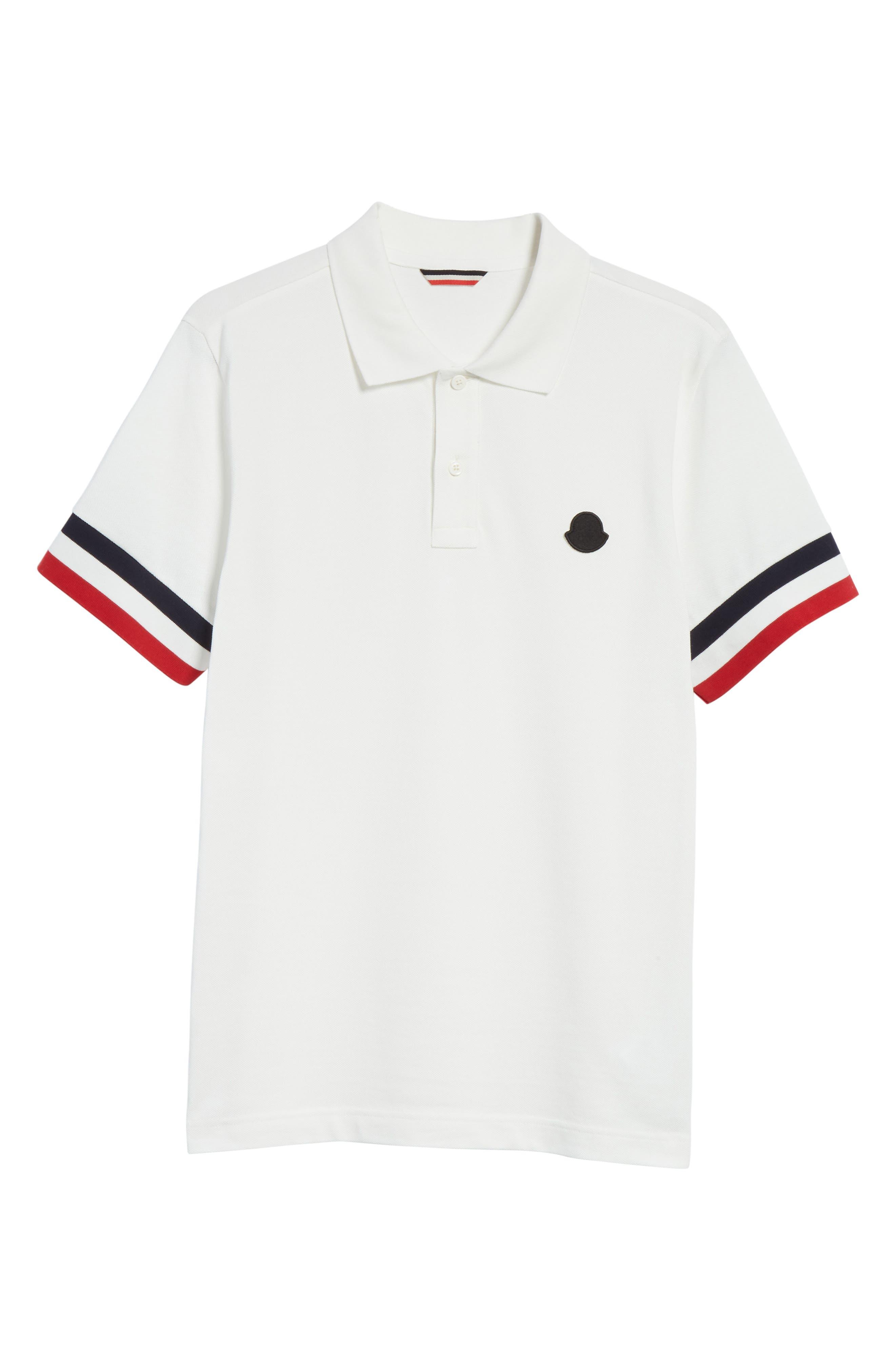 Flag Sleeve Polo,                             Alternate thumbnail 6, color,                             Ivory