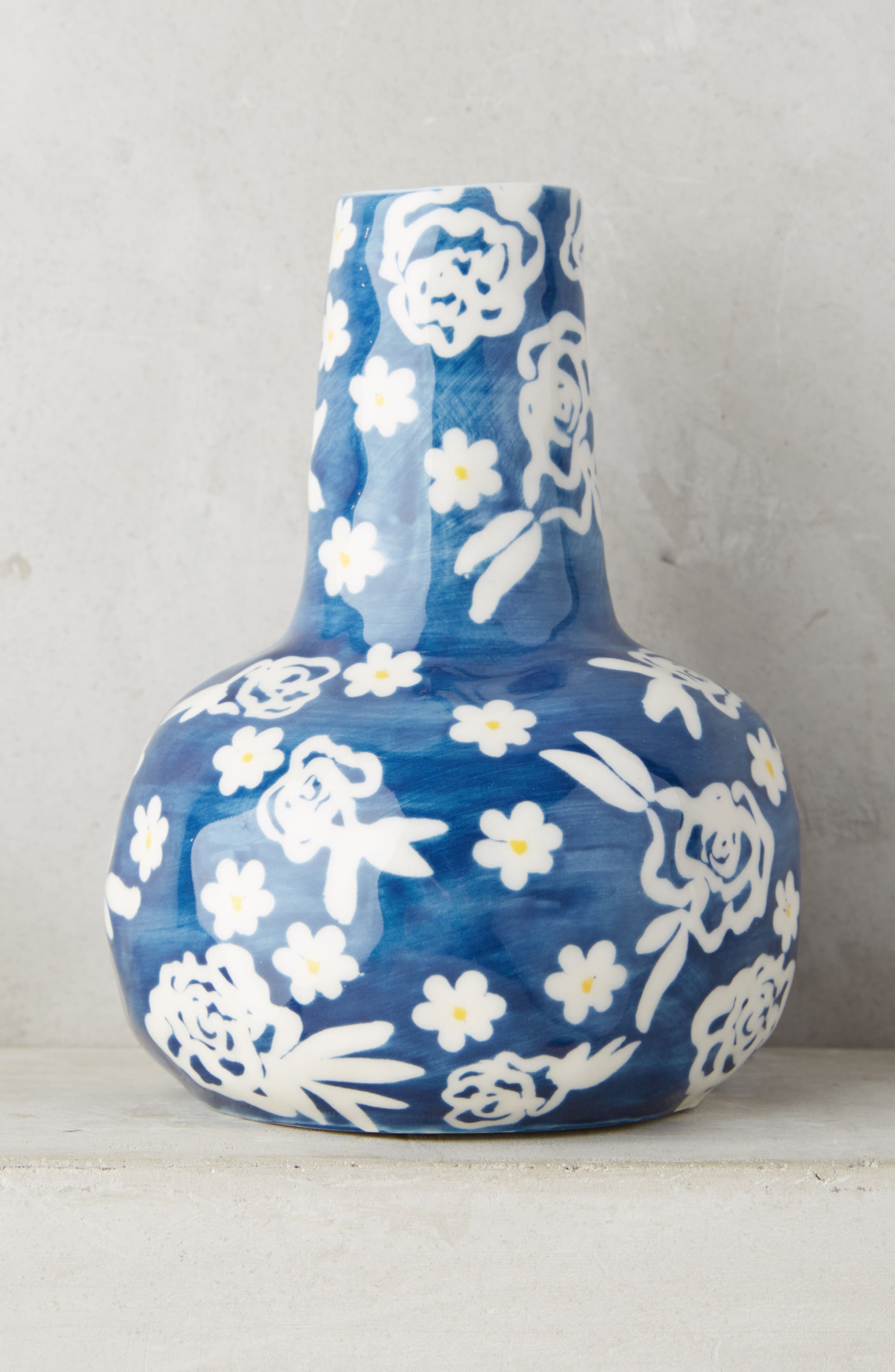 Welcome Spring Vase,                             Main thumbnail 1, color,                             Blue