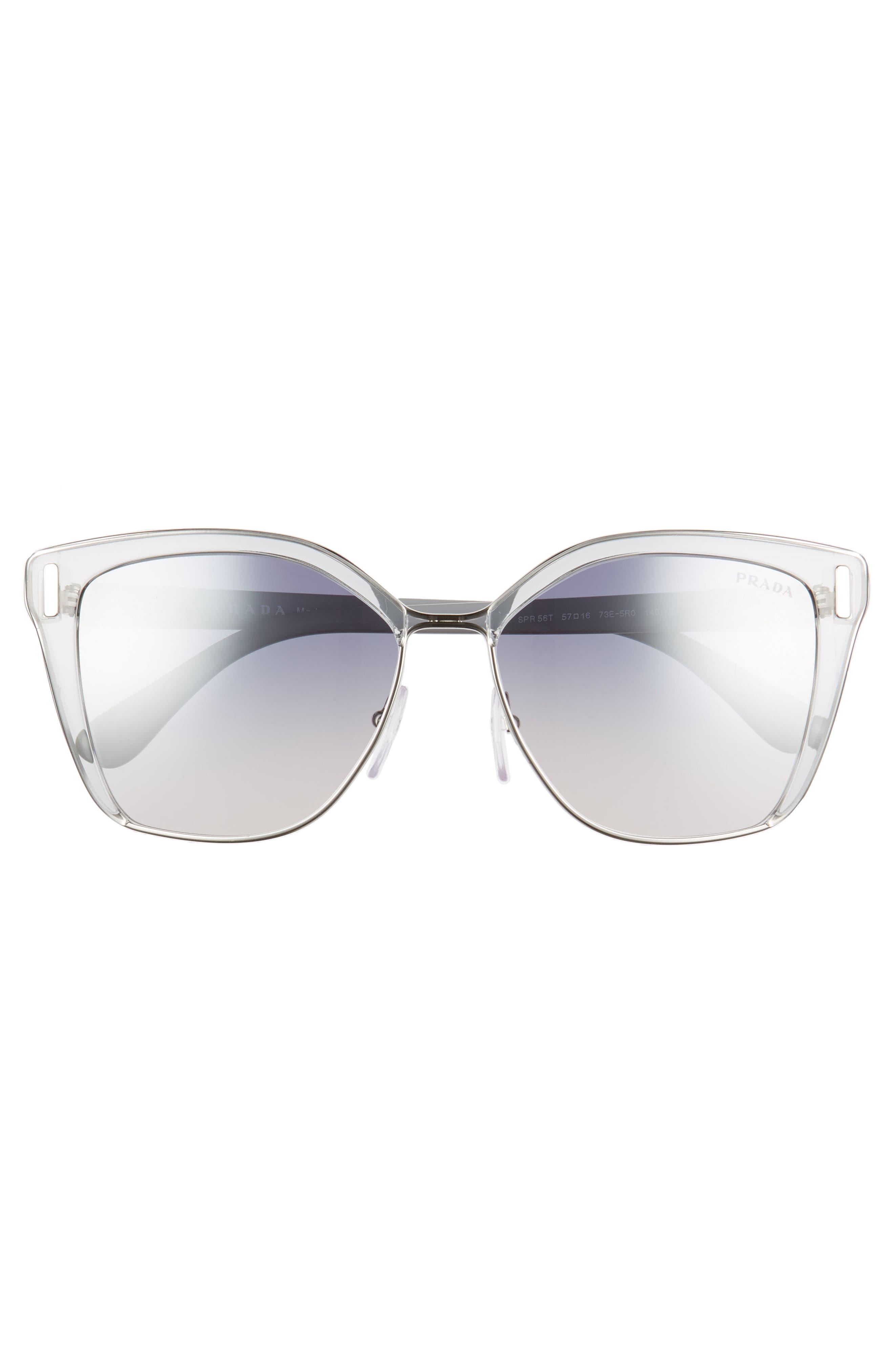 Alternate Image 3  - Prada 54mm Gradient Geometric Sunglasses
